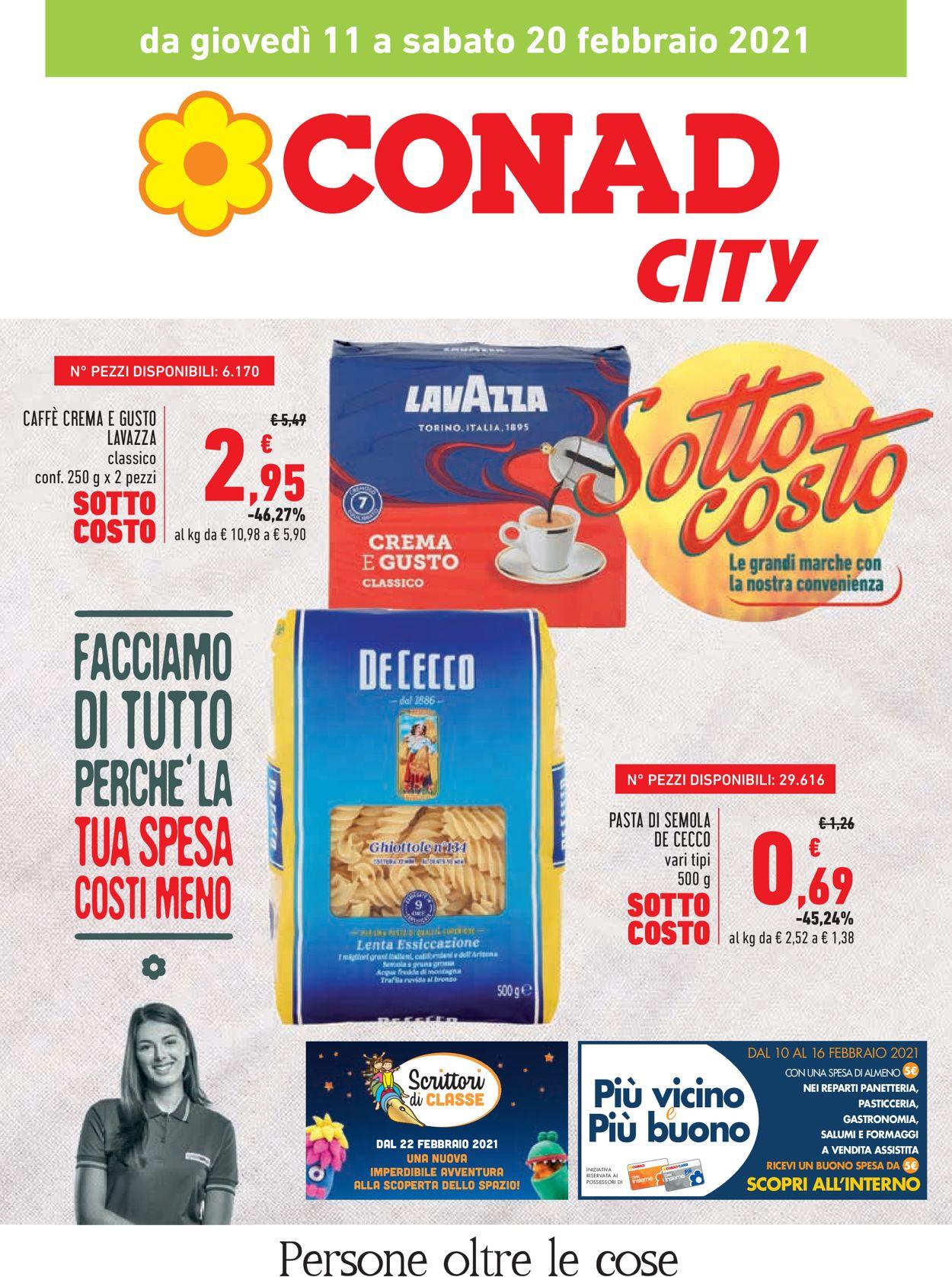 Volantino Conad City - Offerte 11/02-20/02/2021