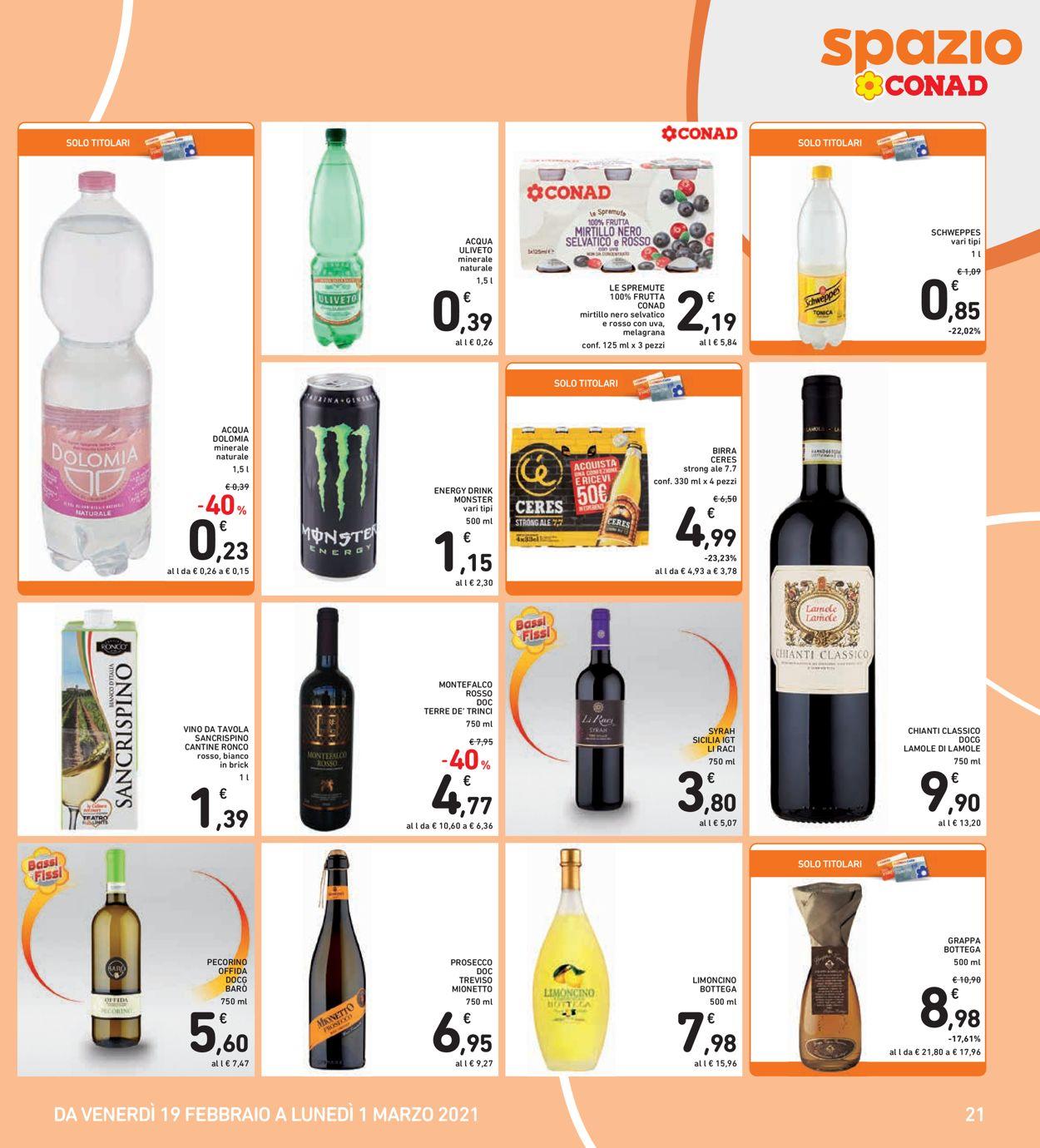 Volantino Conad - Offerte 19/02-01/03/2021 (Pagina 21)