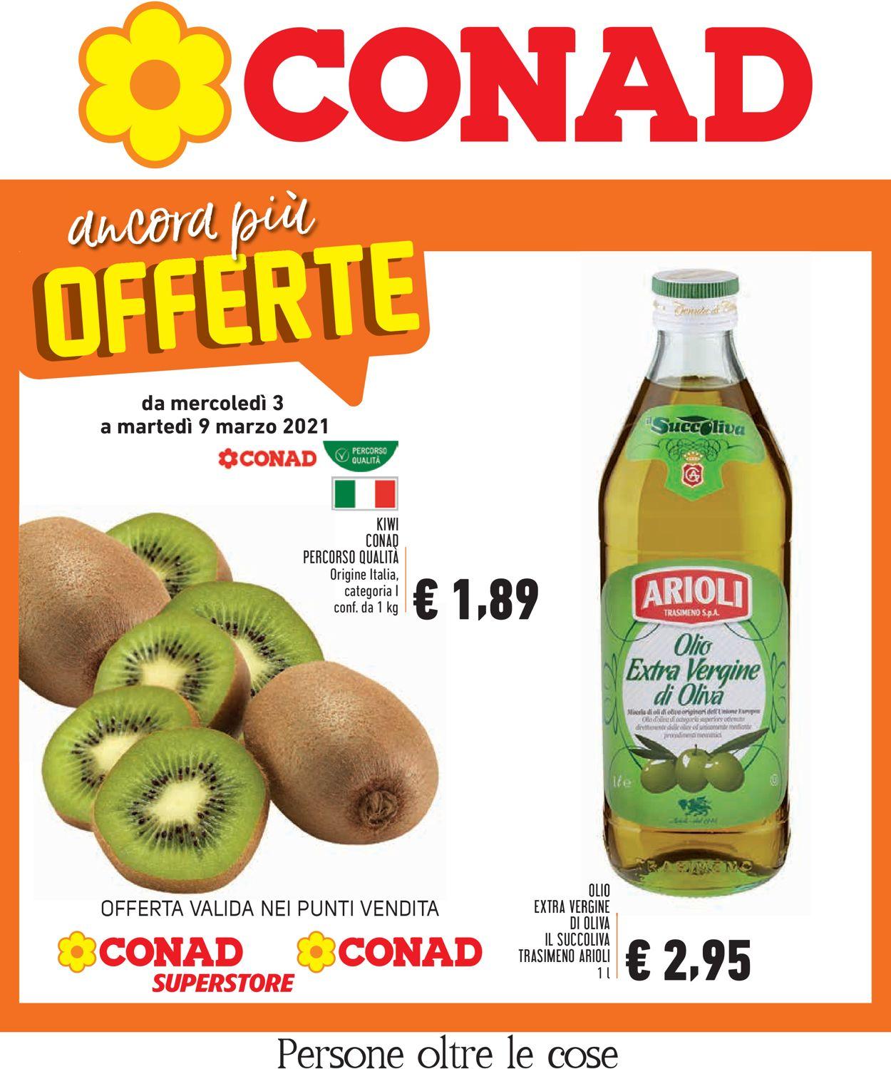 Volantino Conad - Offerte 03/03-09/03/2021