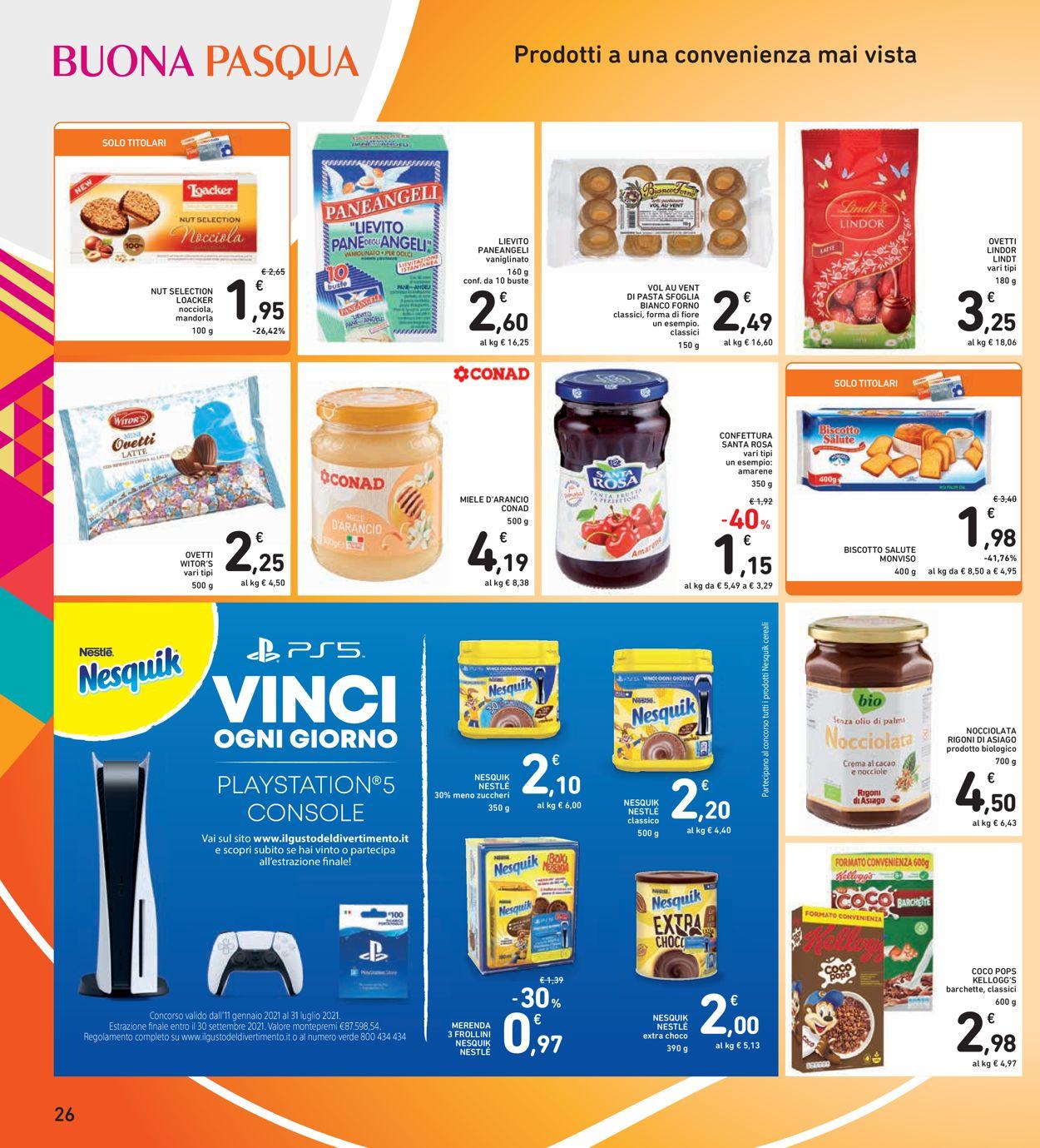 Volantino Conad - Pasqua 2021! - Offerte 22/03-05/04/2021 (Pagina 26)