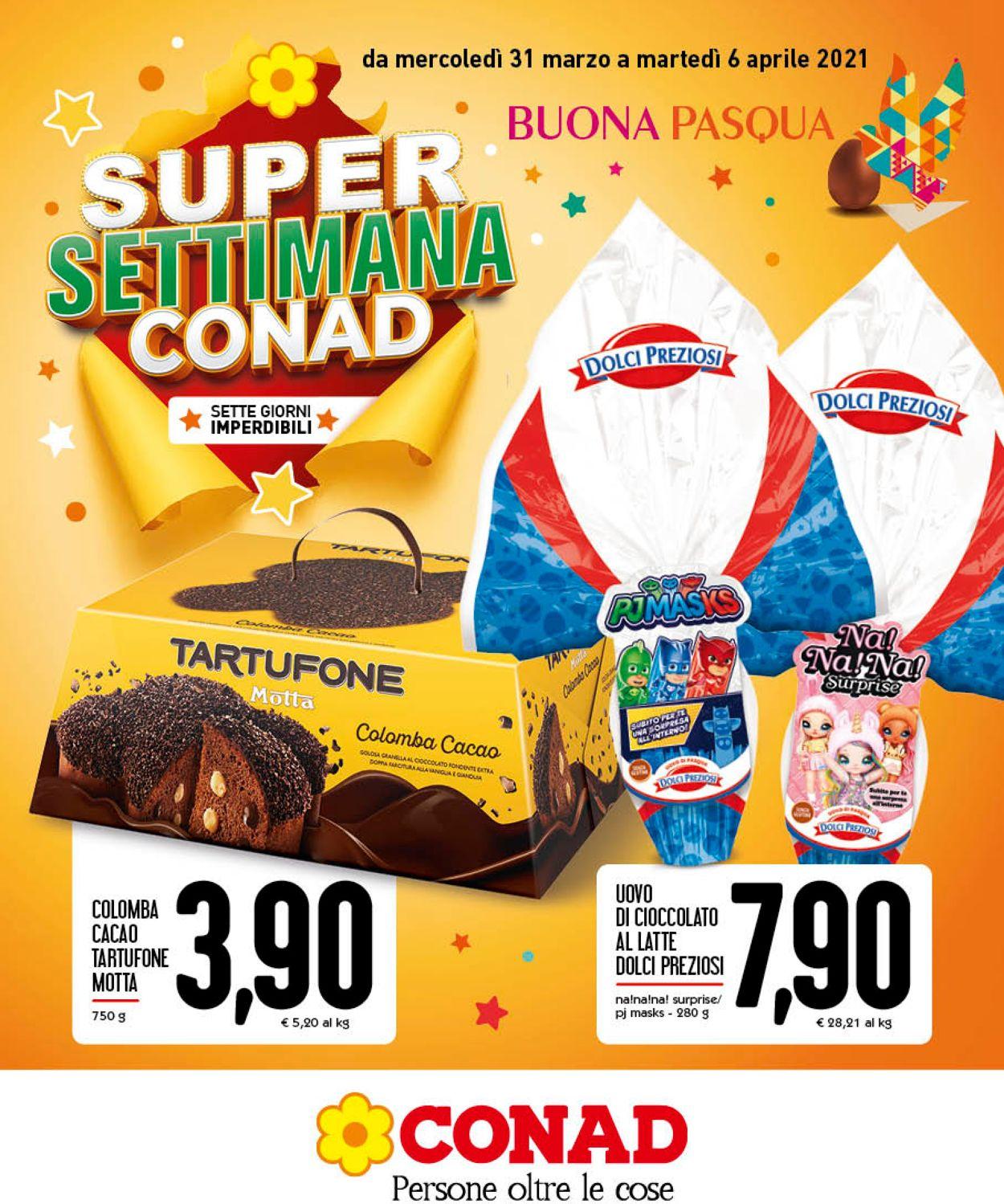Volantino Conad - Pasqua 2021 - Offerte 31/03-06/04/2021