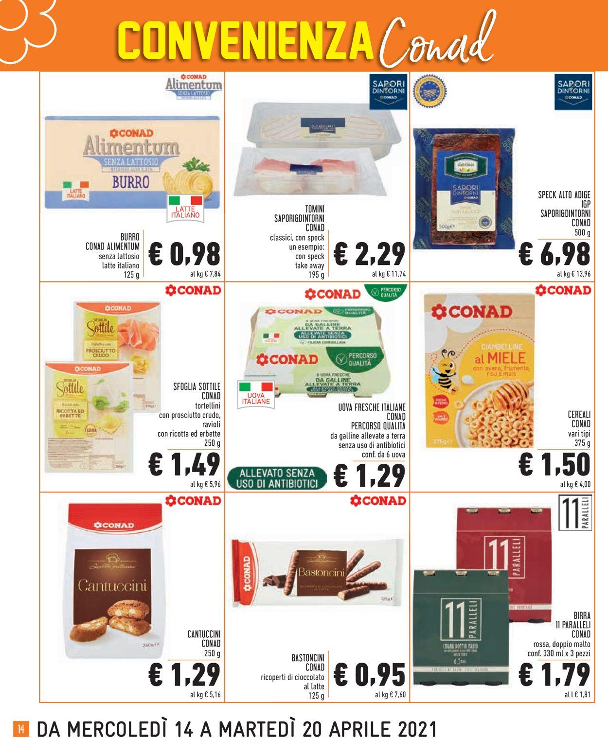 Volantino Conad - Offerte 14/04-20/04/2021 (Pagina 14)