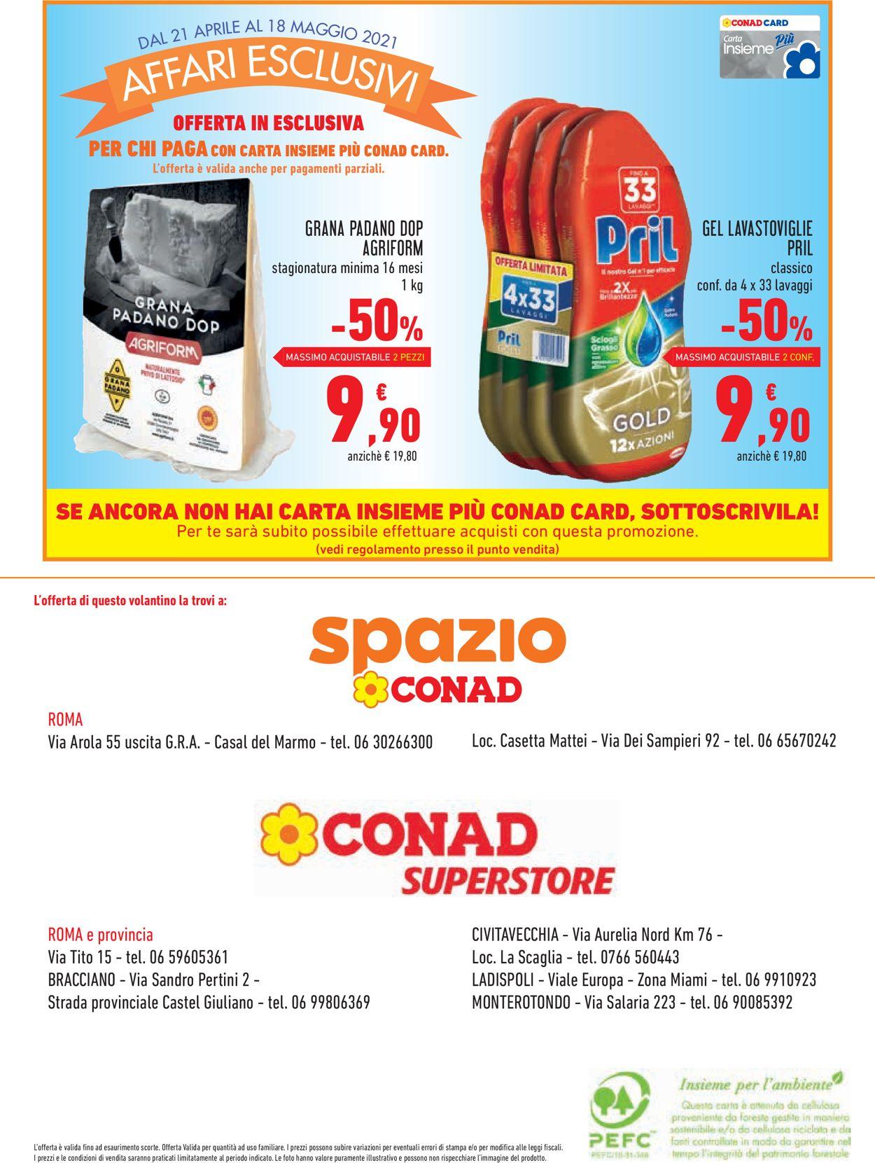 Volantino Conad - Offerte 21/04-18/05/2021 (Pagina 16)