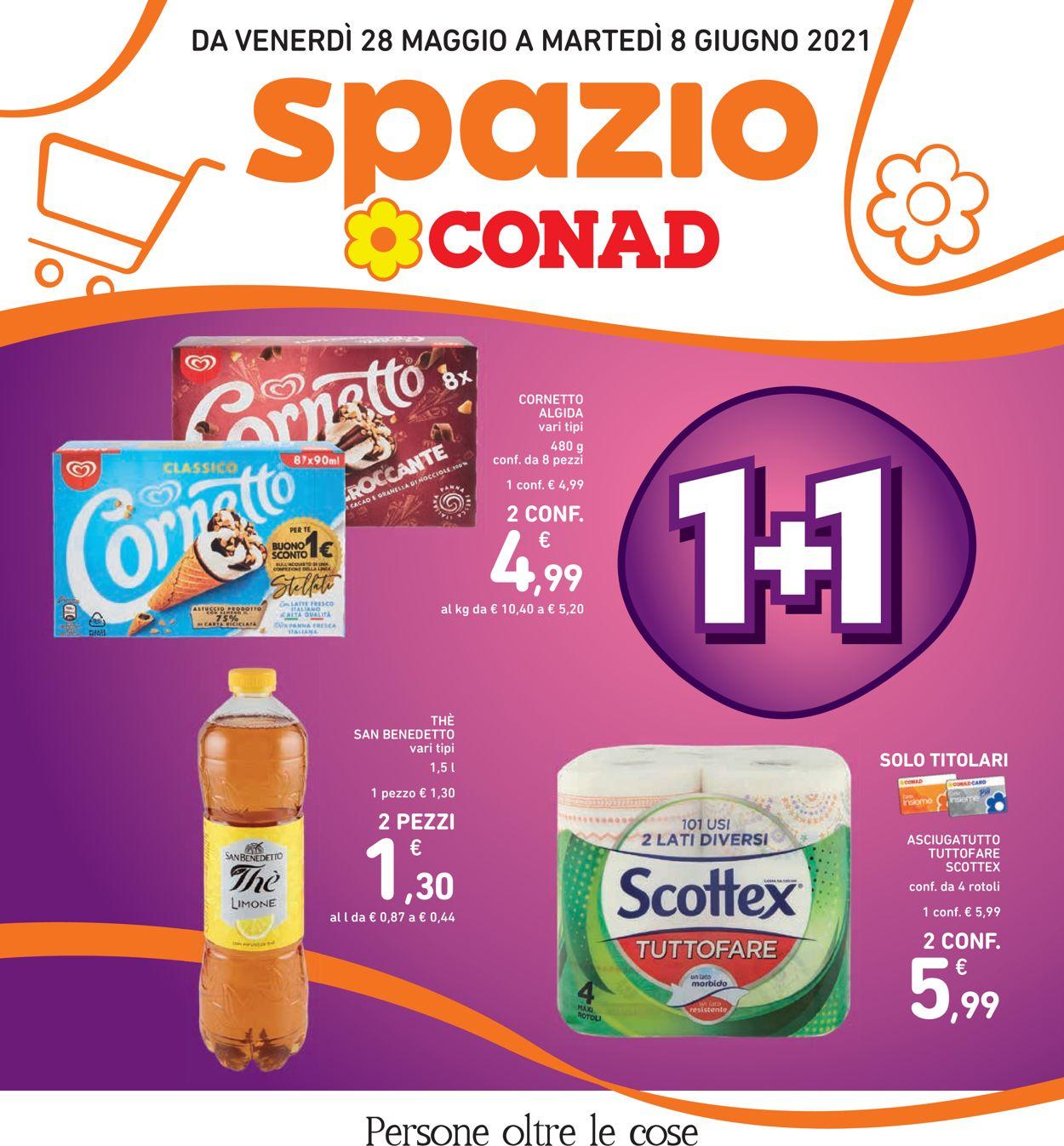 Volantino Conad - Offerte 28/05-08/06/2021