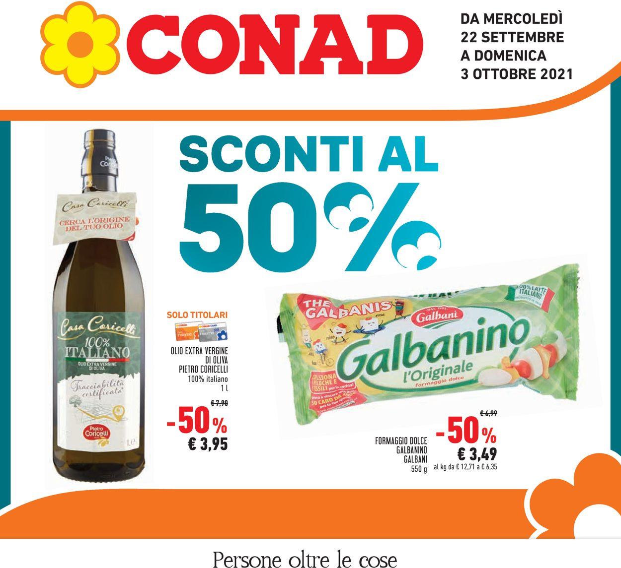 Volantino Conad - Offerte 22/09-03/10/2021
