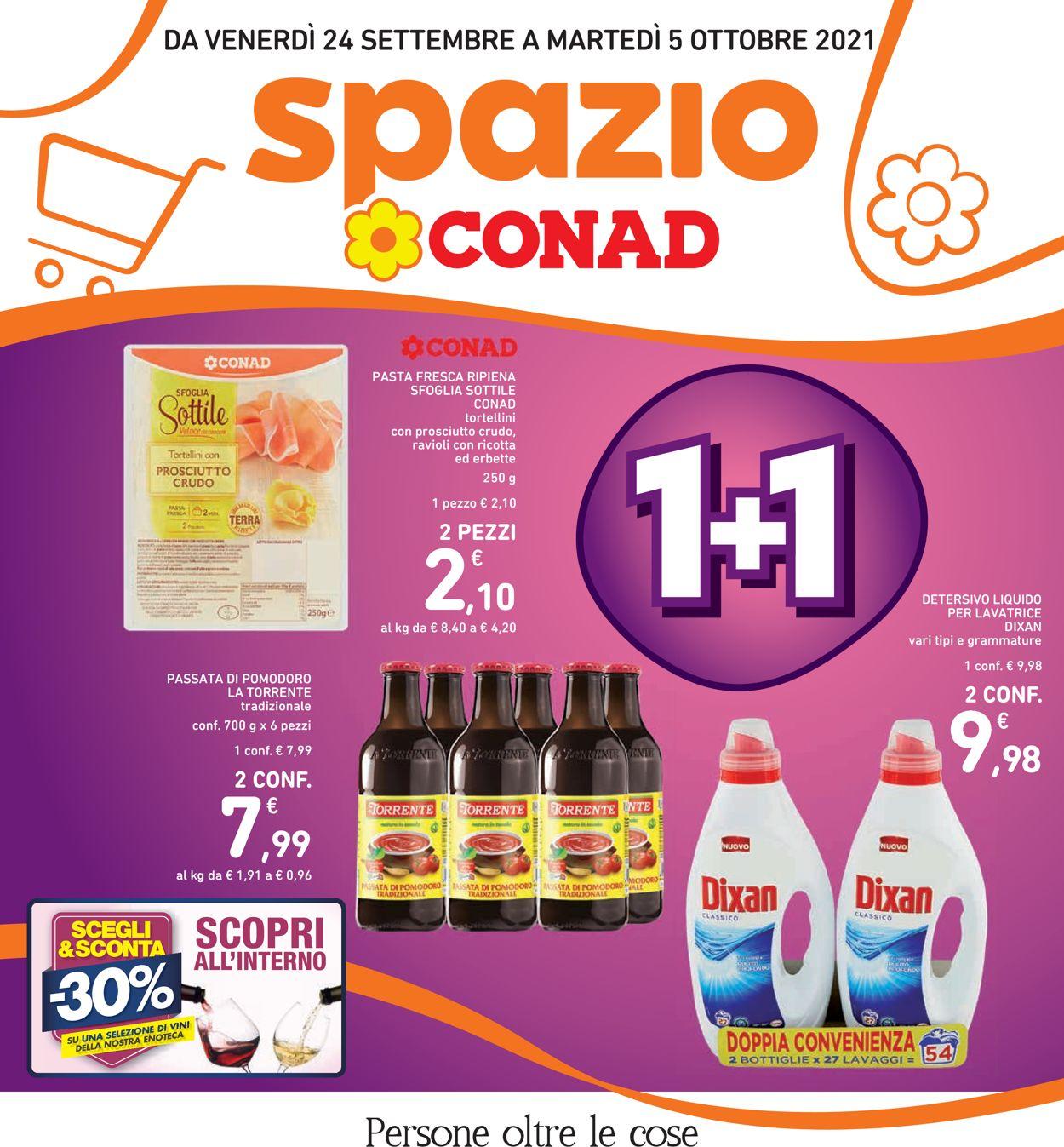 Volantino Conad - Offerte 24/09-05/10/2021