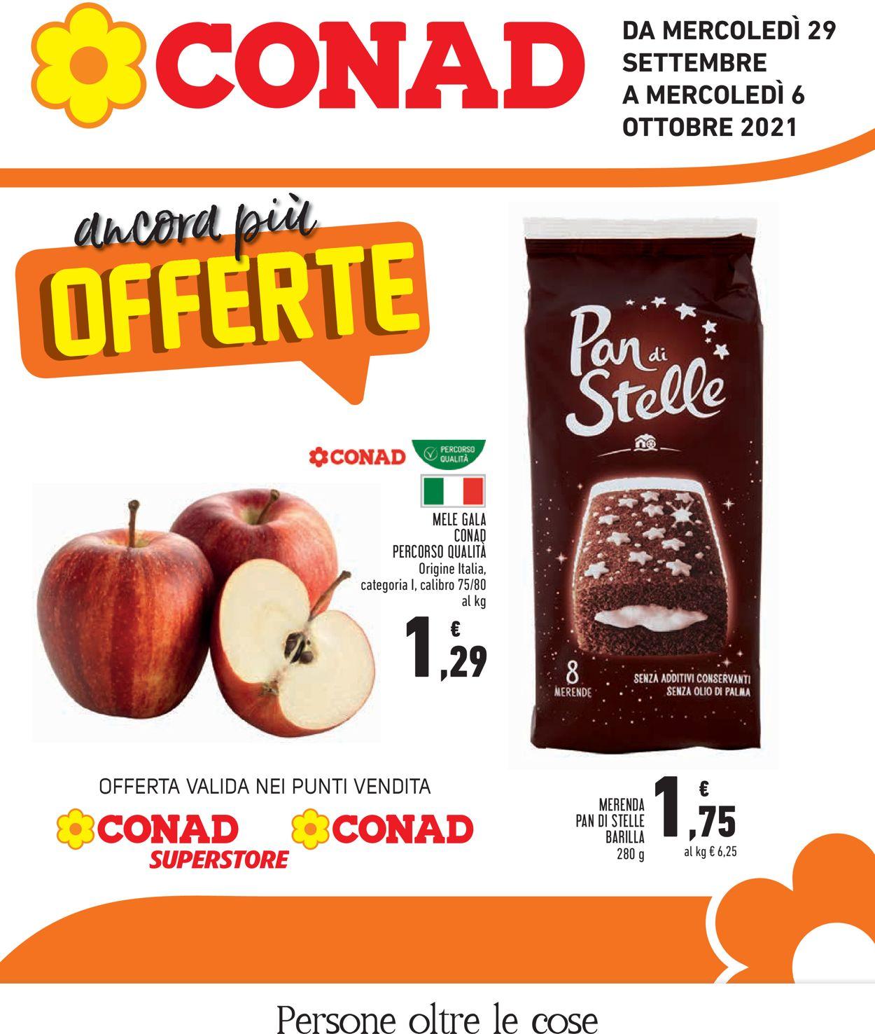 Volantino Conad - Offerte 29/09-06/10/2021