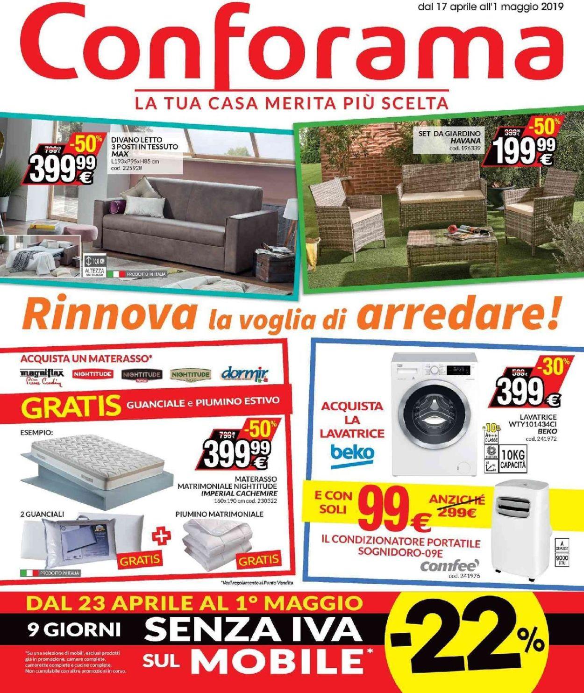 Volantino Conforama - Offerte 17/04-01/05/2019