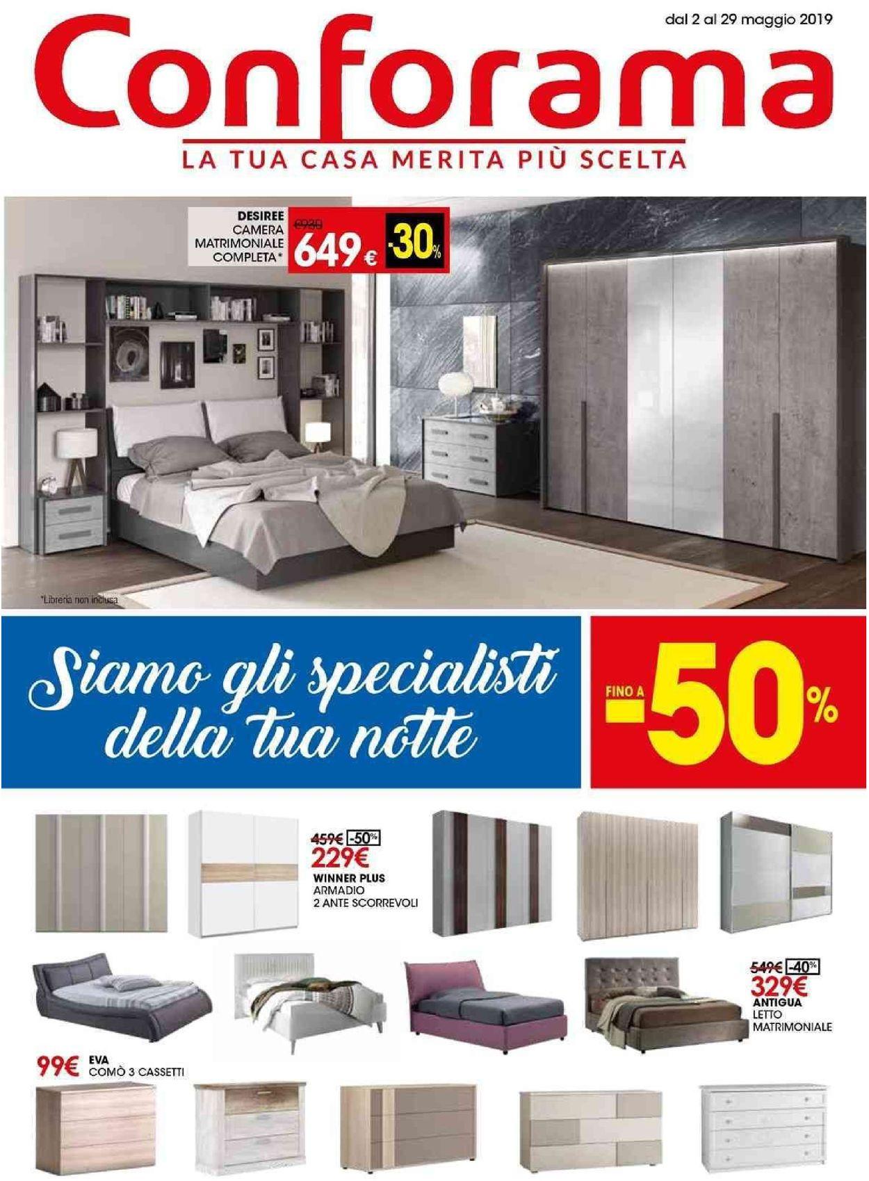 Volantino Conforama - Offerte 02/05-29/05/2019