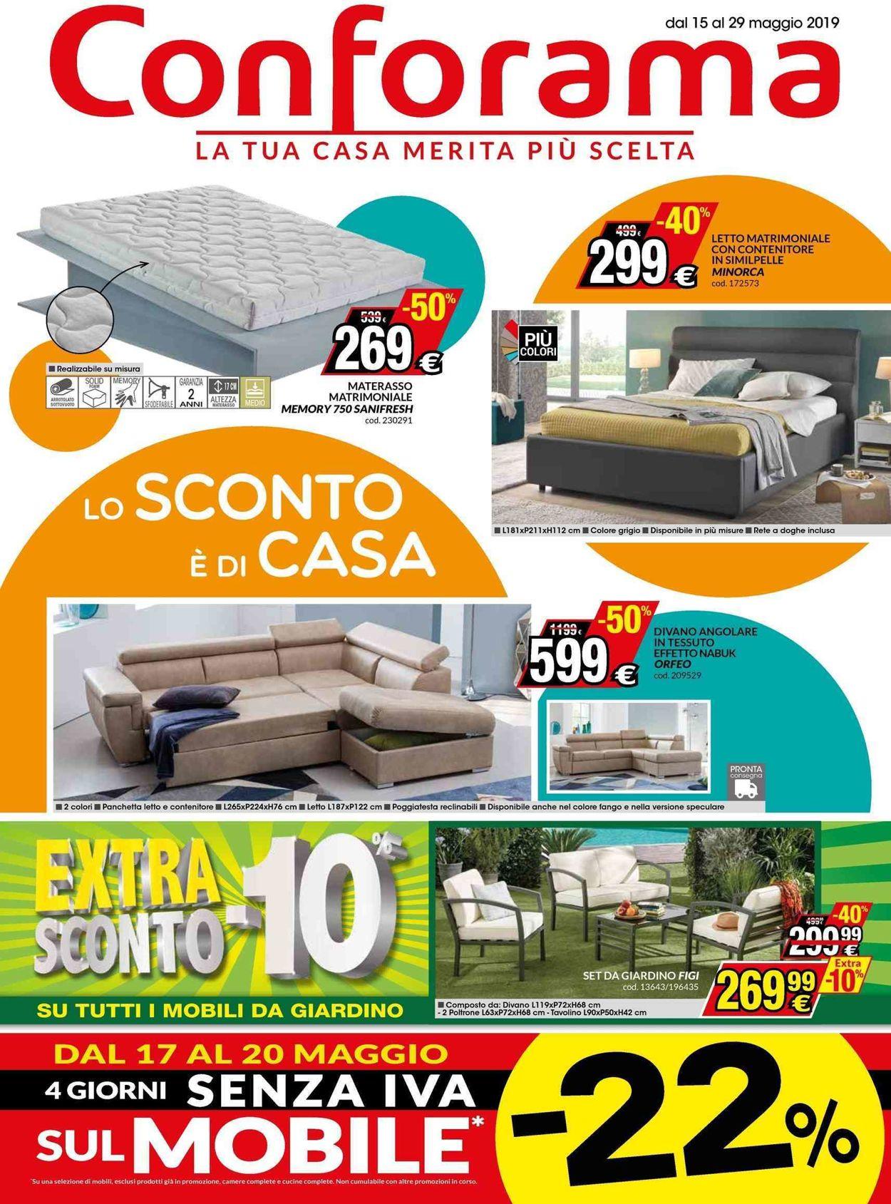 Volantino Conforama - Offerte 15/05-29/05/2019
