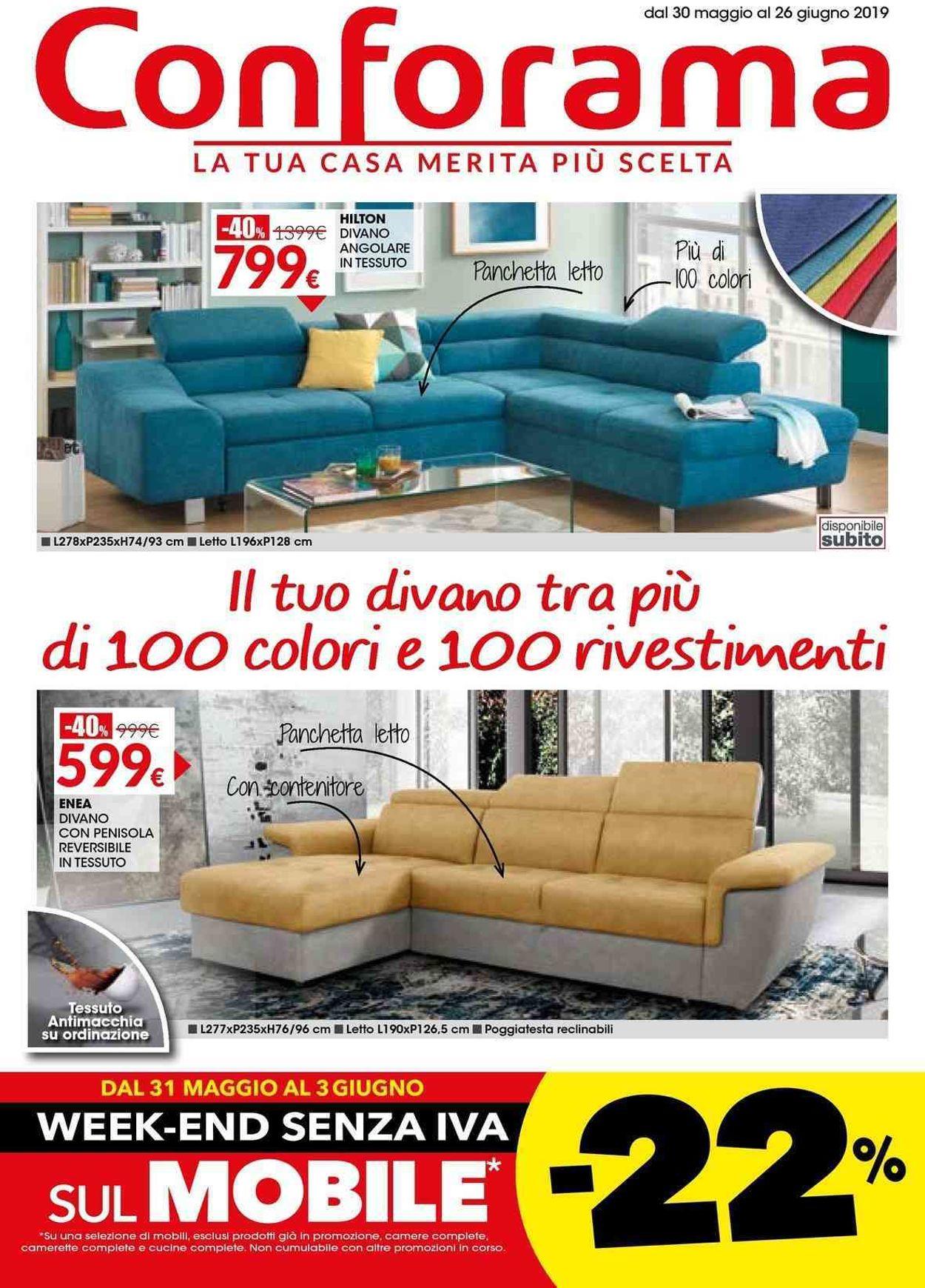 Volantino Conforama - Offerte 30/05-26/06/2019
