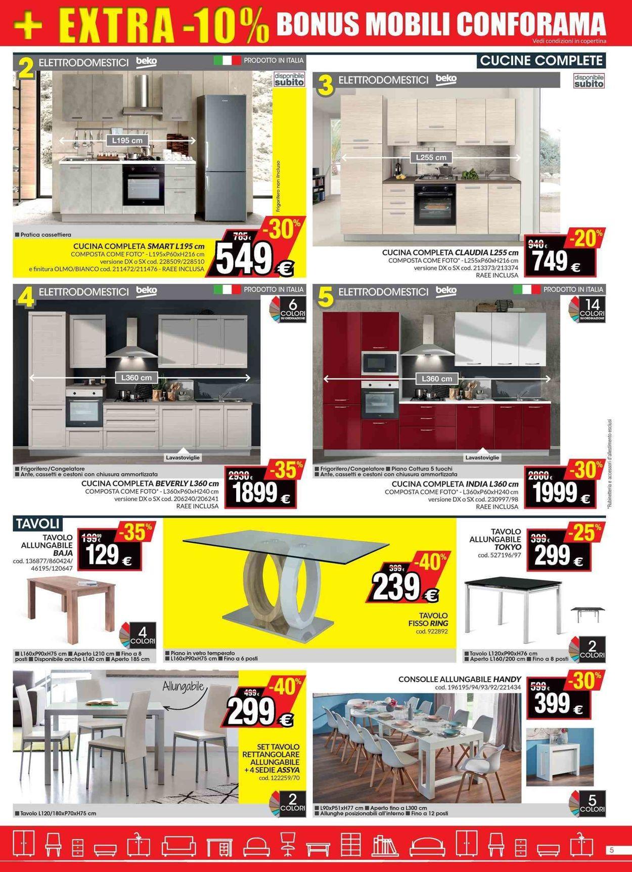 Volantino Conforama - Offerte 20/06-05/07/2019 (Pagina 5)