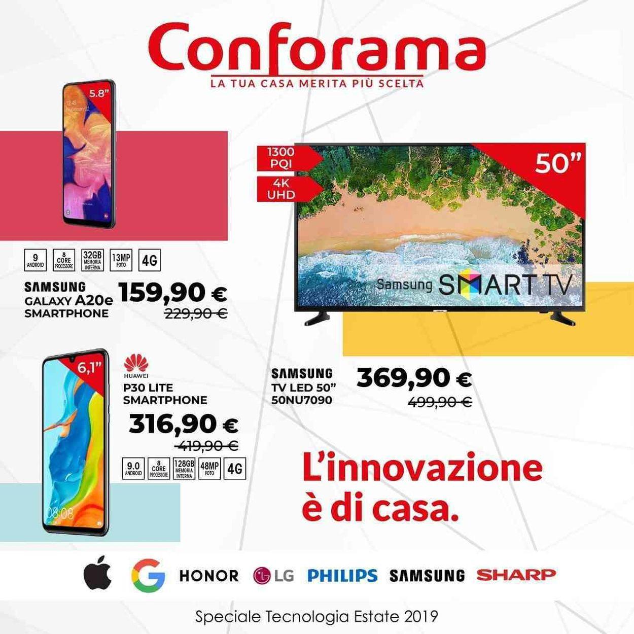 Volantino Conforama - Offerte 28/06-21/07/2019