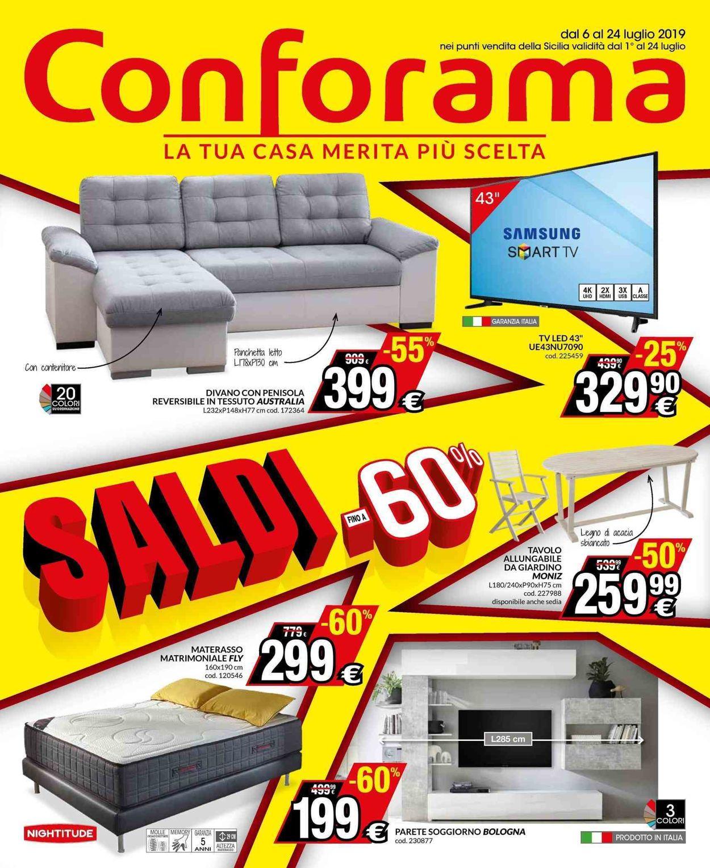 Volantino Conforama - Offerte 06/07-24/07/2019