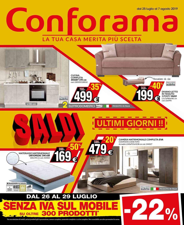 Volantino Conforama - Offerte 25/07-07/08/2019