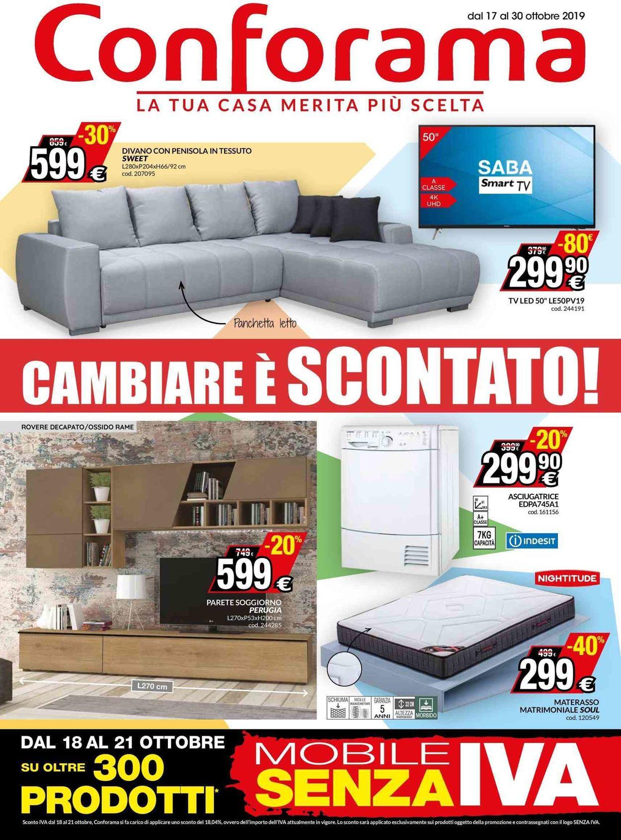 Volantino Conforama - Offerte 17/10-30/10/2019