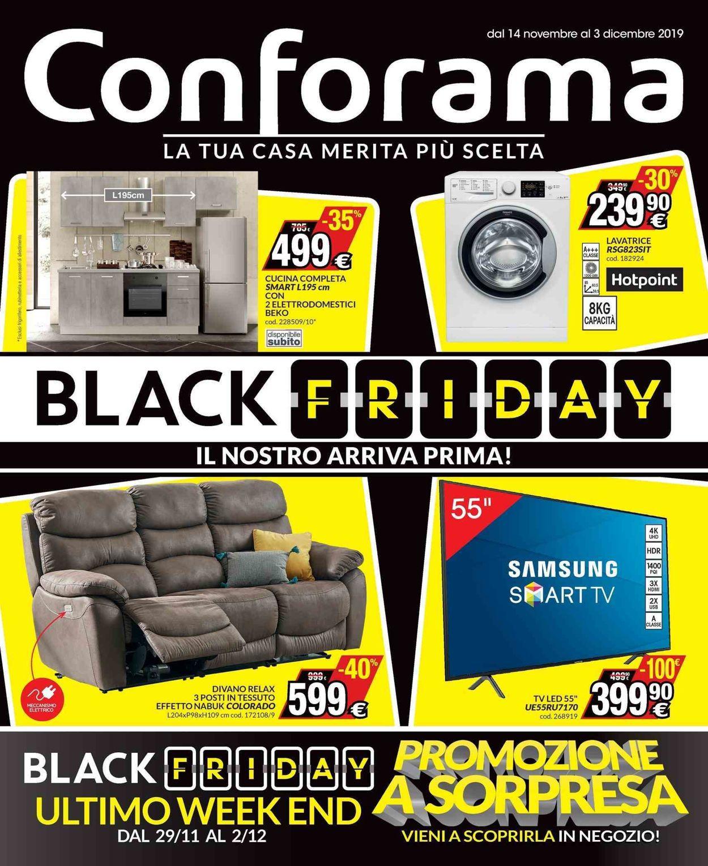 Volantino Conforama - BLACK FRIDAY 2019 - Offerte 14/11-03/12/2019
