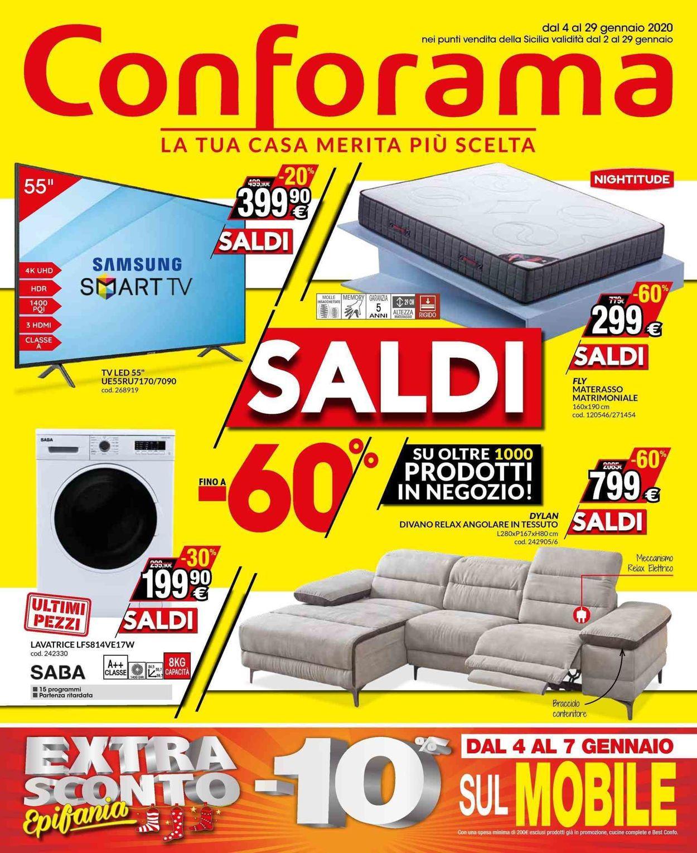 Volantino Conforama - Offerte 04/01-29/01/2020