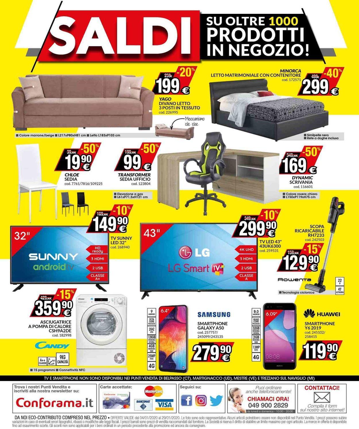 Volantino Conforama - Offerte 04/01-29/01/2020 (Pagina 16)