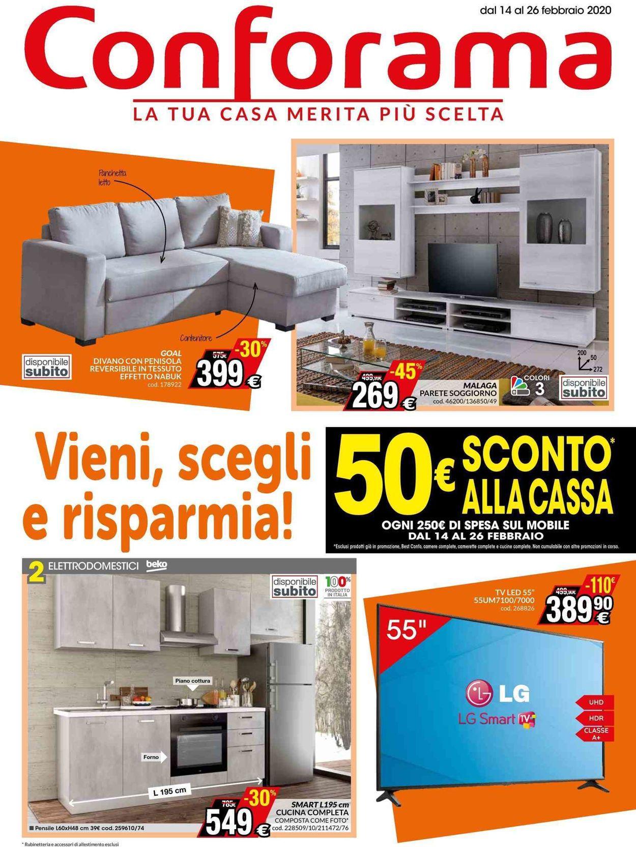 Volantino Conforama - Offerte 14/02-26/02/2020