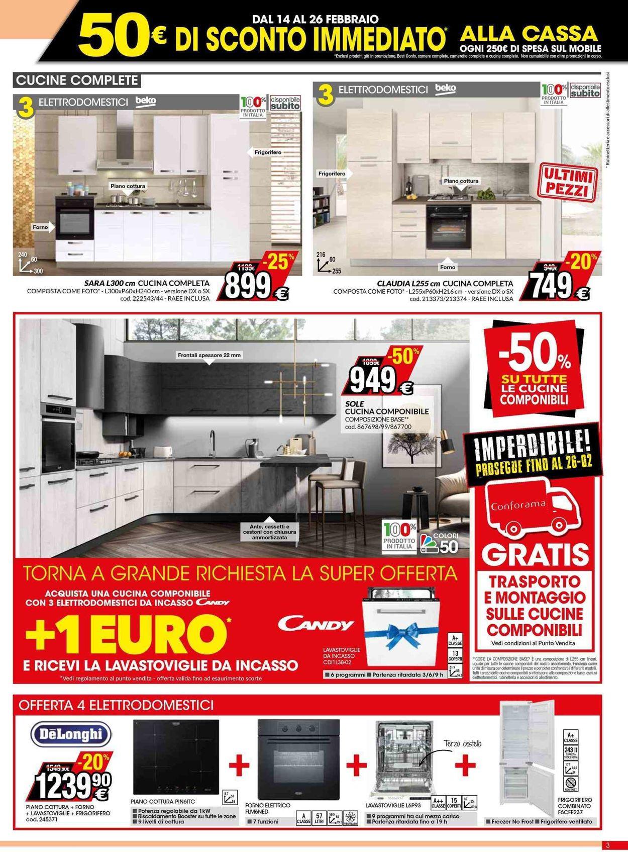 Volantino Conforama - Offerte 14/02-26/02/2020 (Pagina 3)