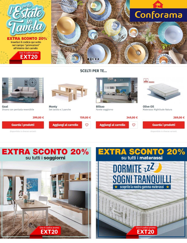 Volantino Conforama - Offerte 14/07-21/07/2020