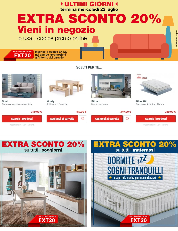 Volantino Conforama - Offerte 22/07-28/07/2020