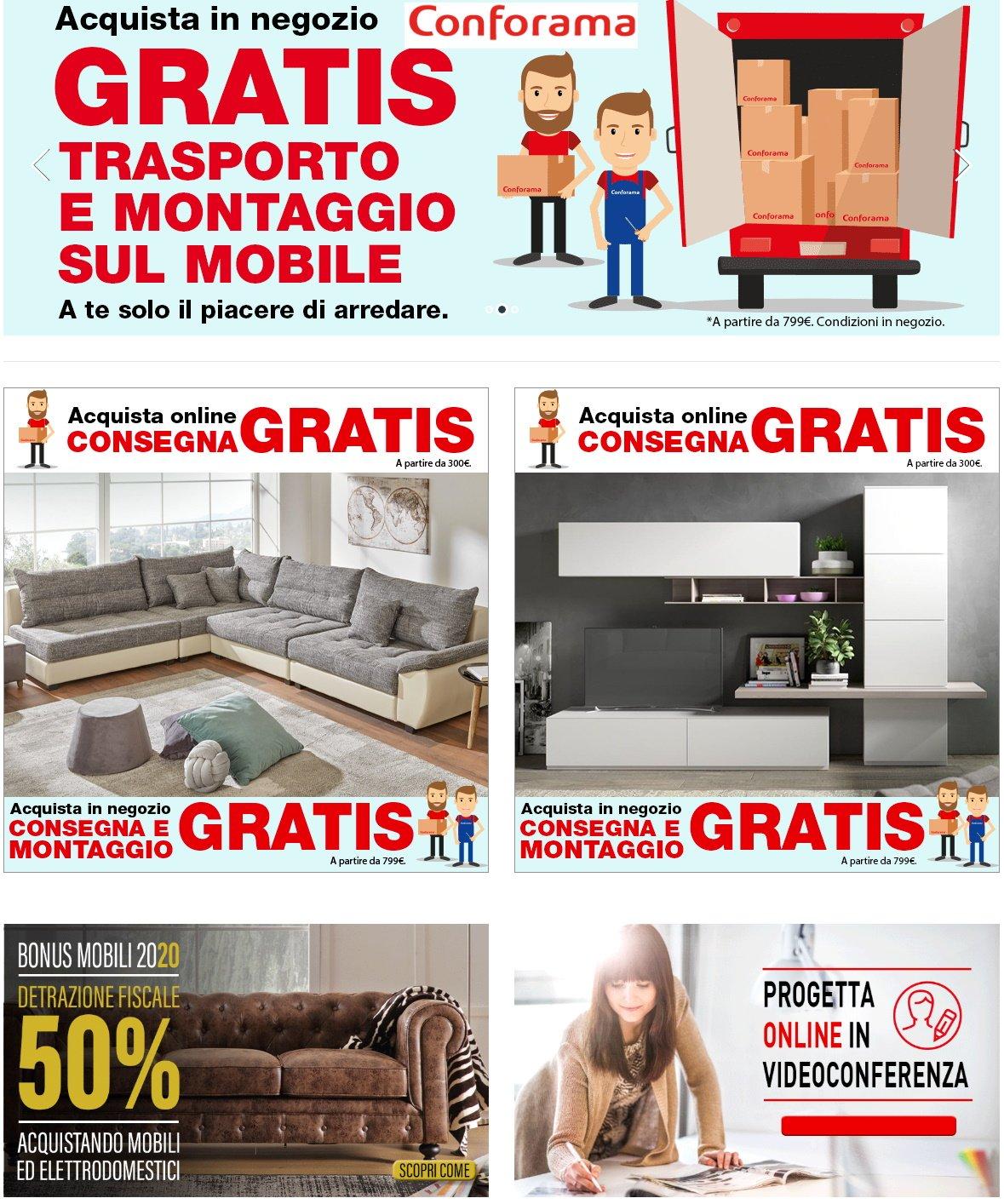 Volantino Conforama - Offerte 29/07-04/08/2020