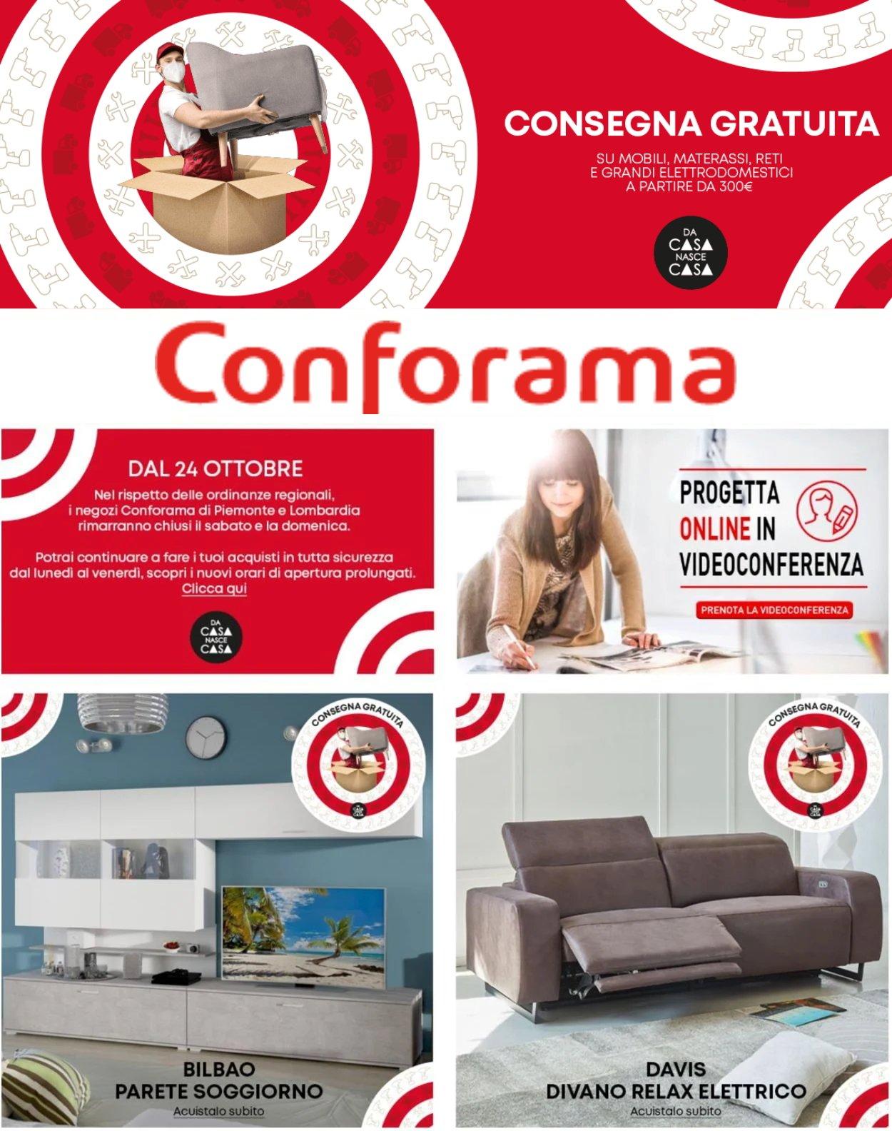 Volantino Conforama - Offerte 09/11-17/11/2020
