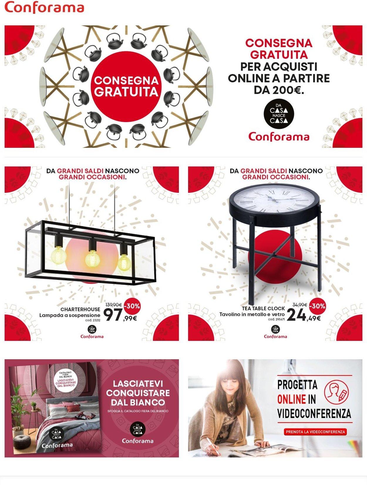Volantino Conforama - Offerte 20/01-26/01/2021