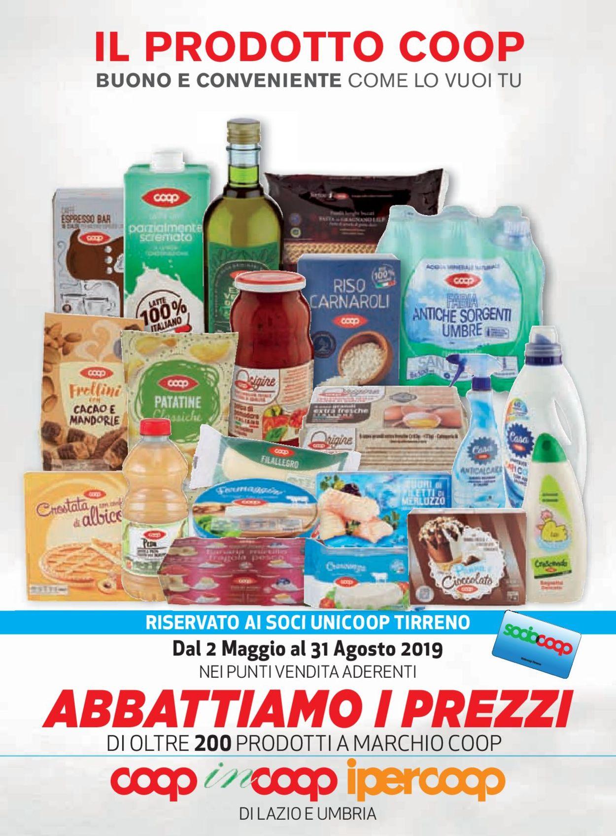Volantino Coop - Offerte 02/05-31/08/2019