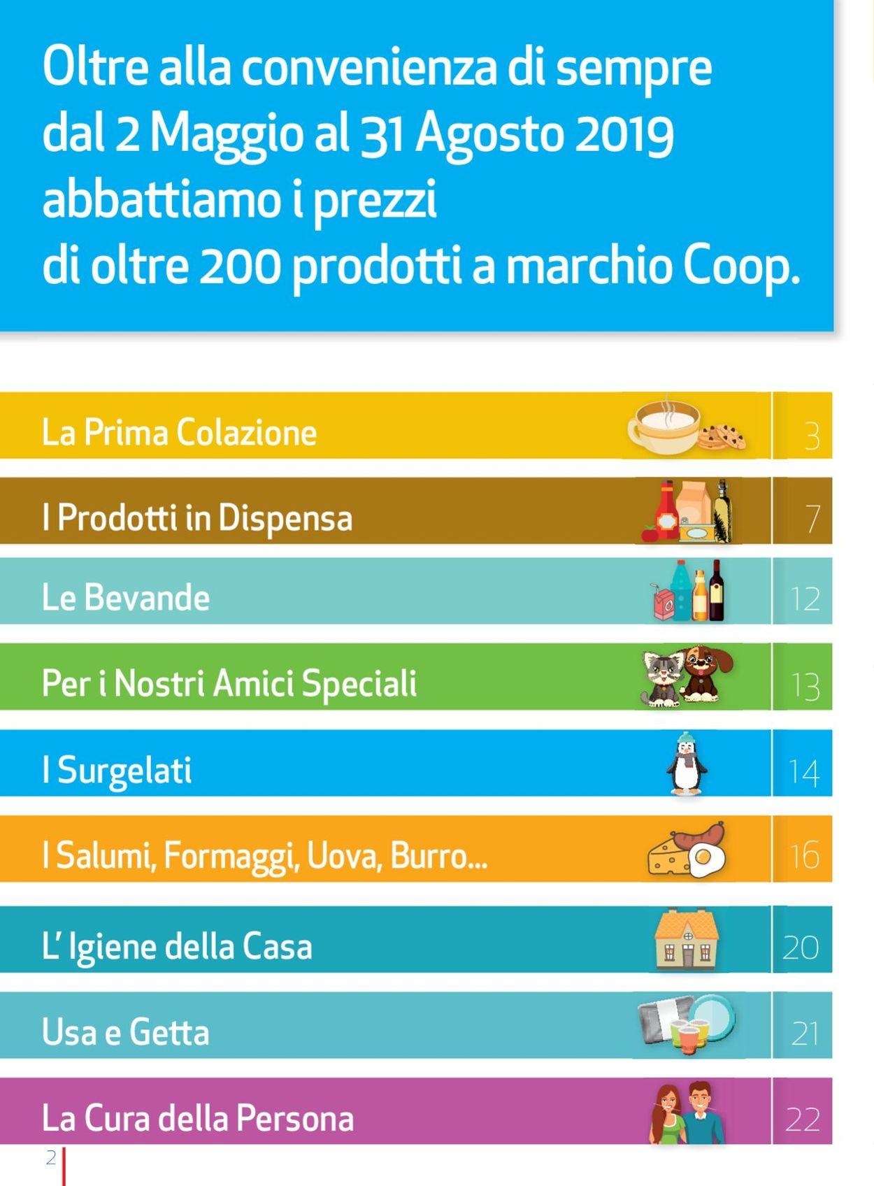 Volantino Coop - Offerte 02/05-31/08/2019 (Pagina 2)