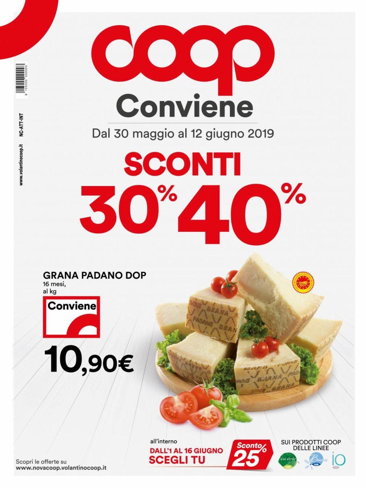 Volantino Coop - Offerte 30/05-12/06/2019