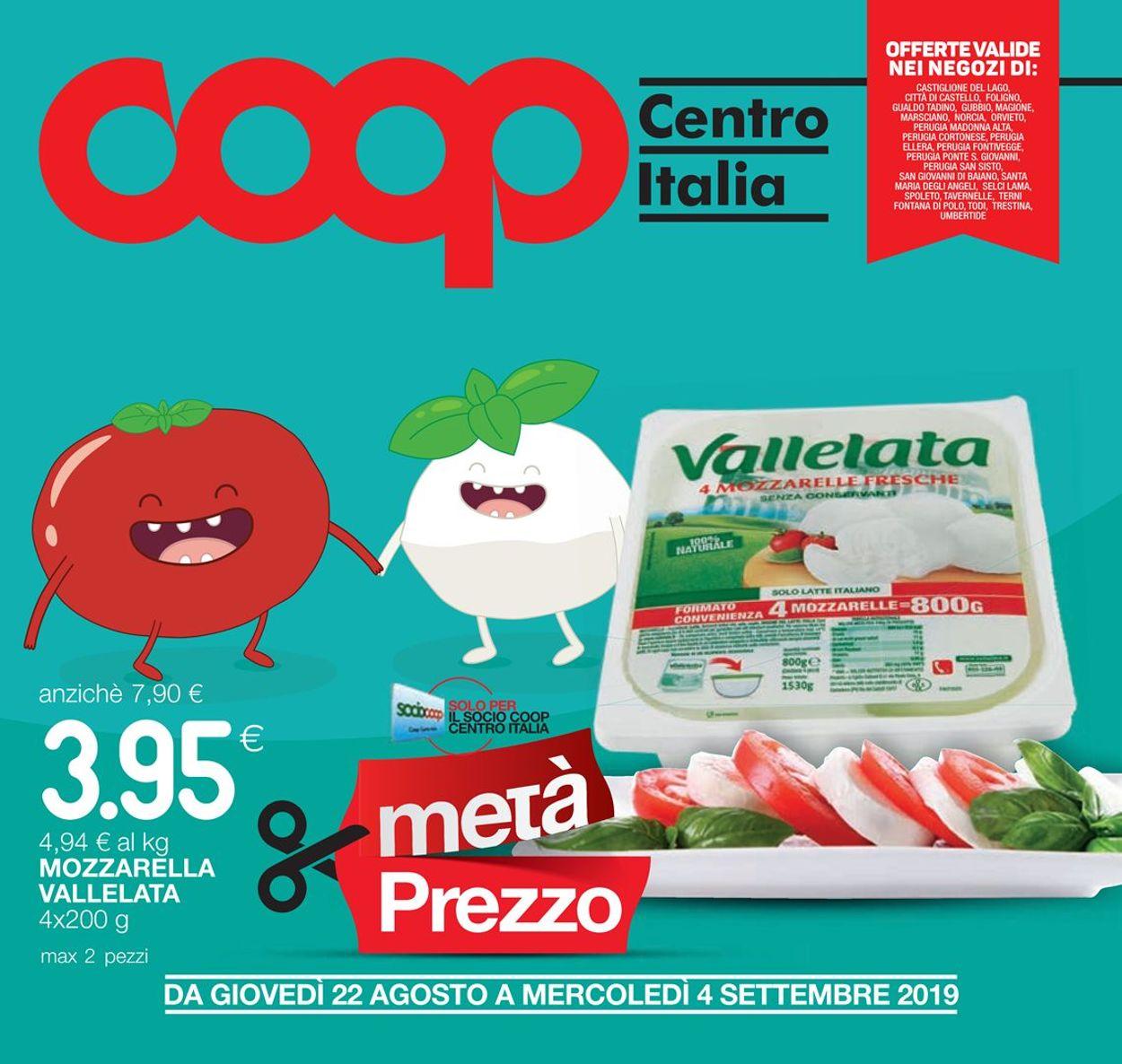 Volantino Coop - Offerte 22/08-04/09/2019