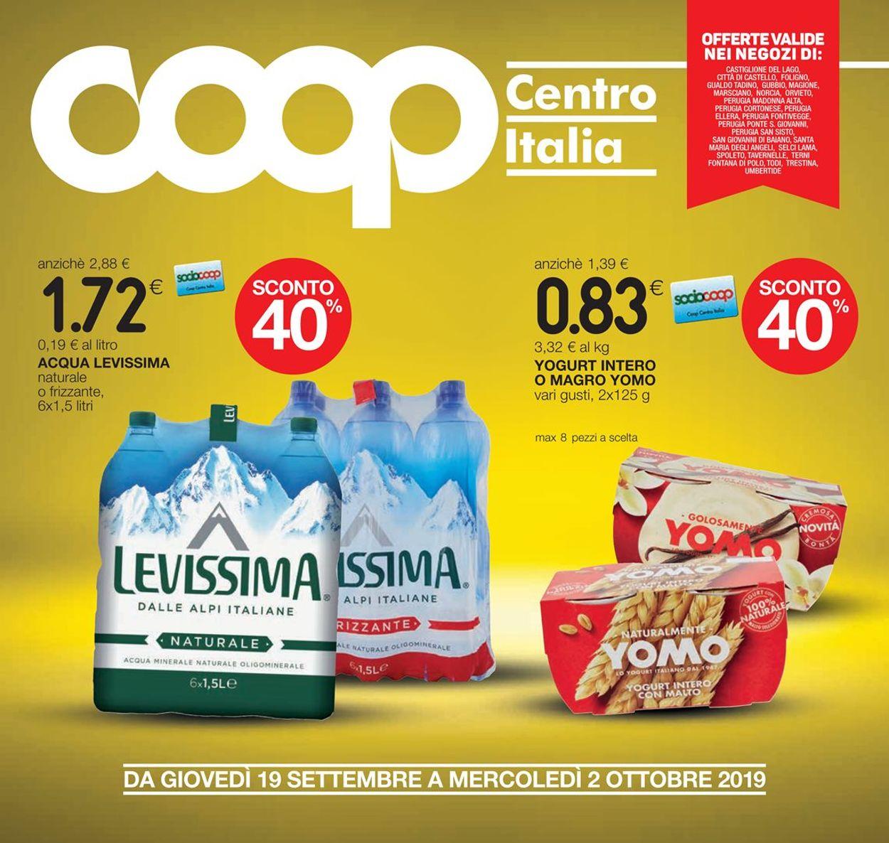 Volantino Coop - Offerte 19/09-02/10/2019