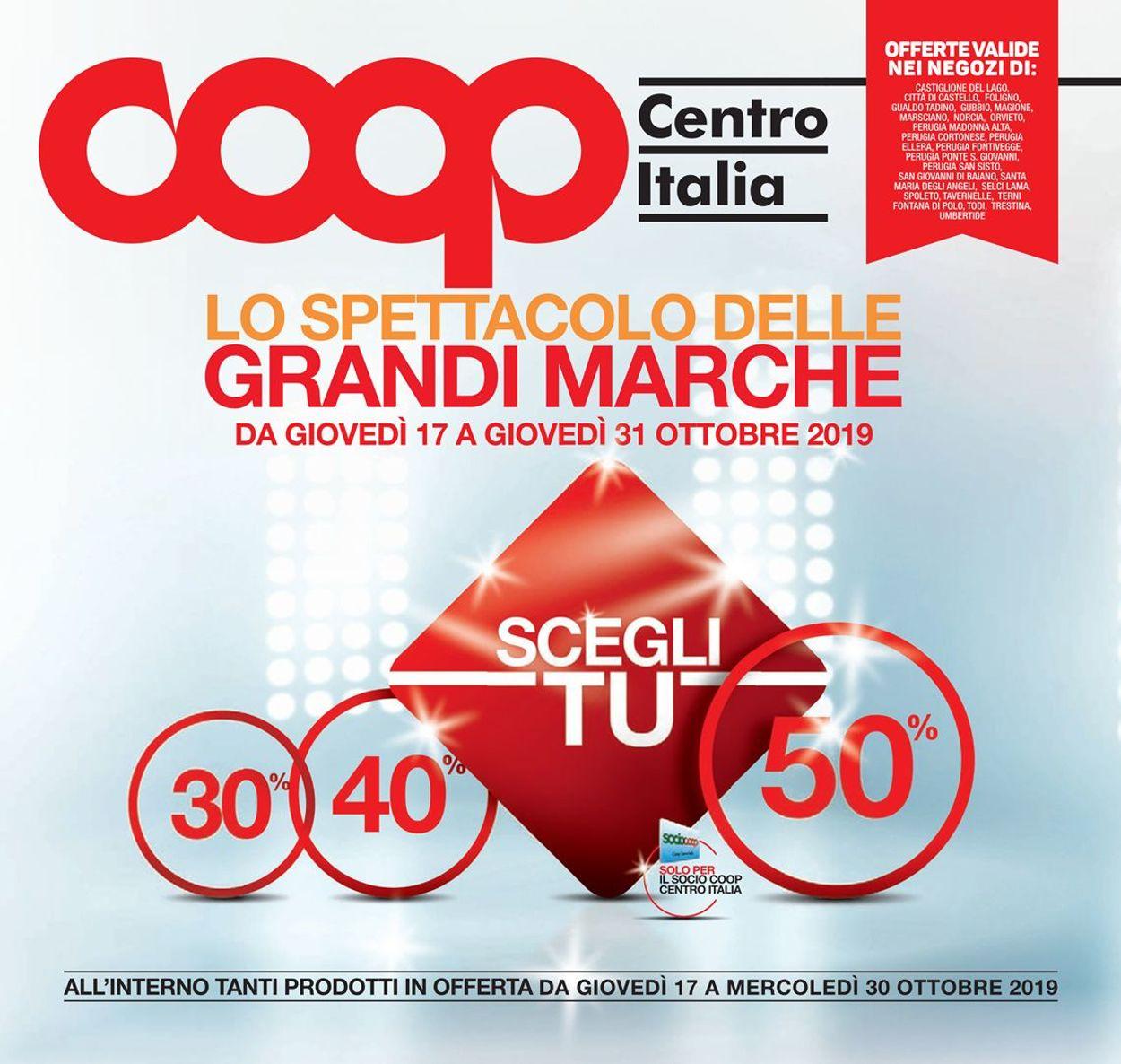 Volantino Coop - Offerte 17/10-30/10/2019