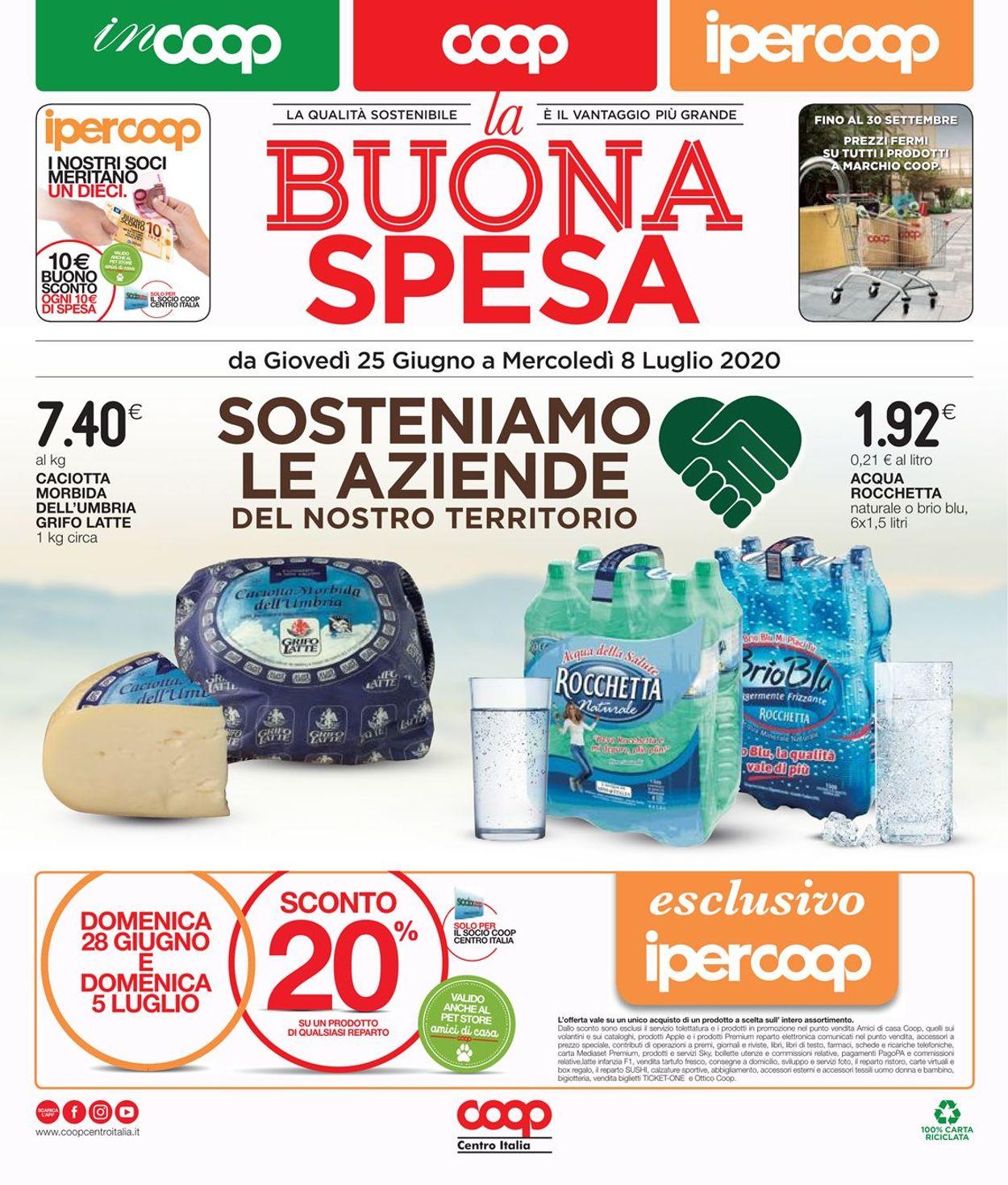 Volantino Coop - Offerte 25/06-08/07/2020