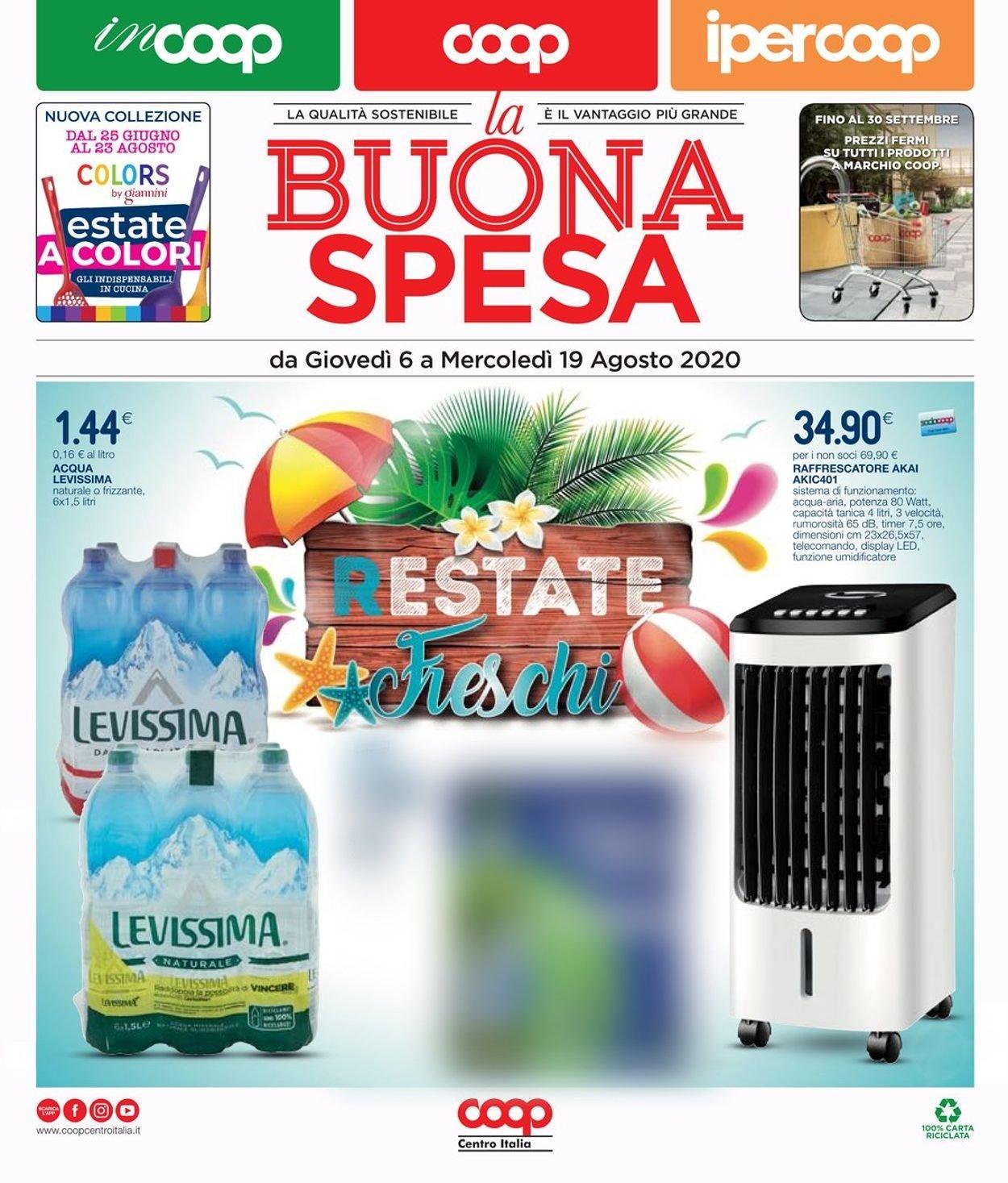 Volantino Coop - Offerte 06/08-19/08/2020