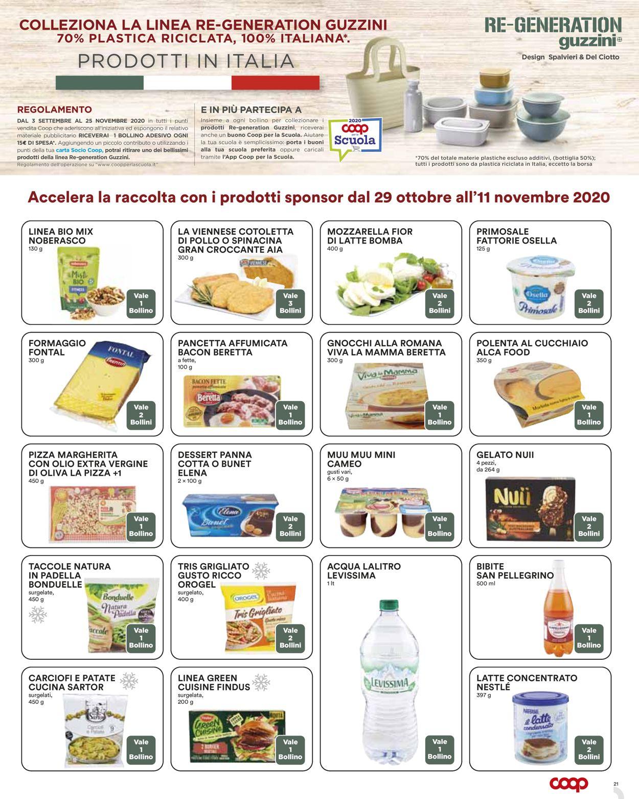 Volantino Coop - Offerte 29/10-11/11/2020 (Pagina 21)
