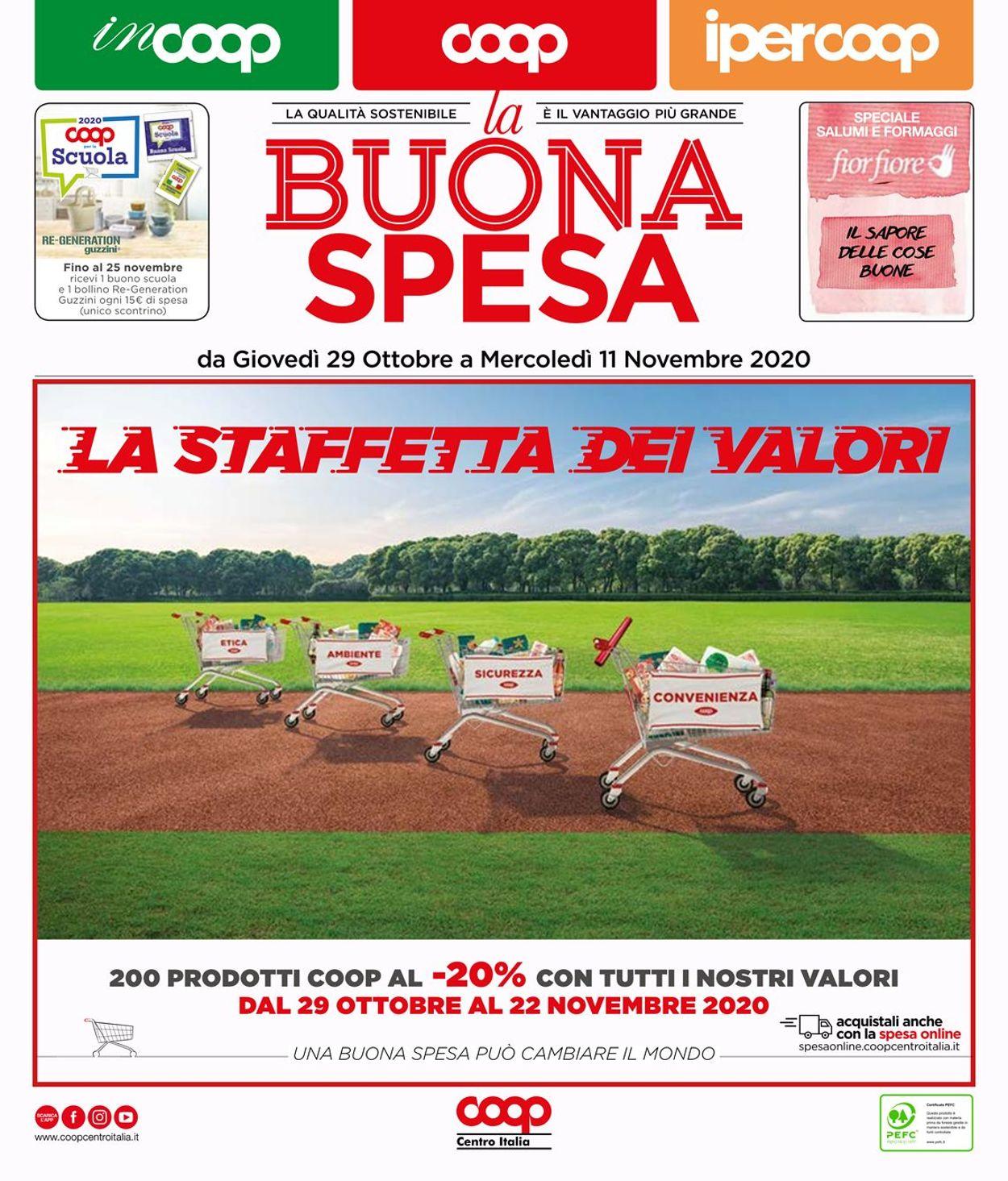 Volantino Coop - Offerte 29/10-11/11/2020