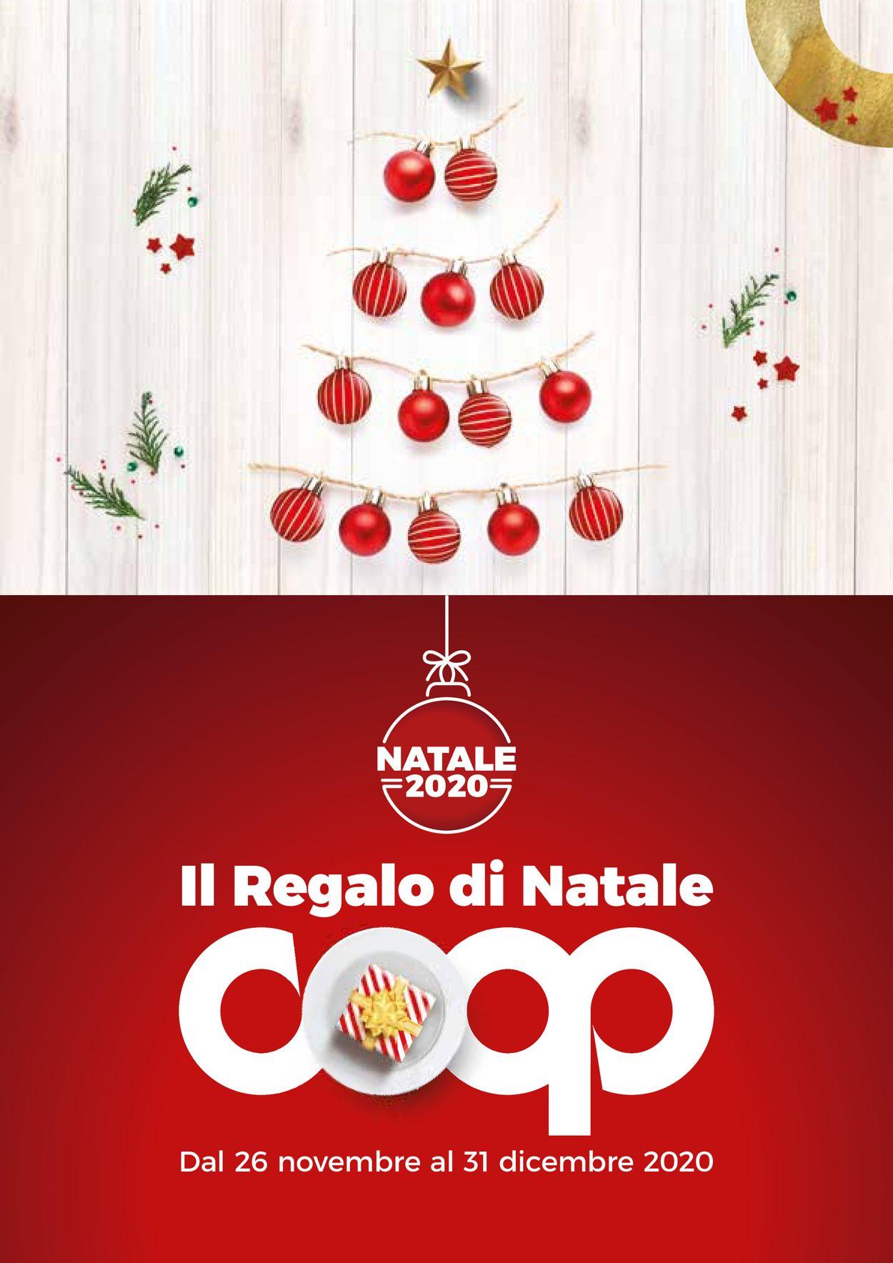 Volantino Coop - Natale 2020 - Offerte 26/11-31/12/2020