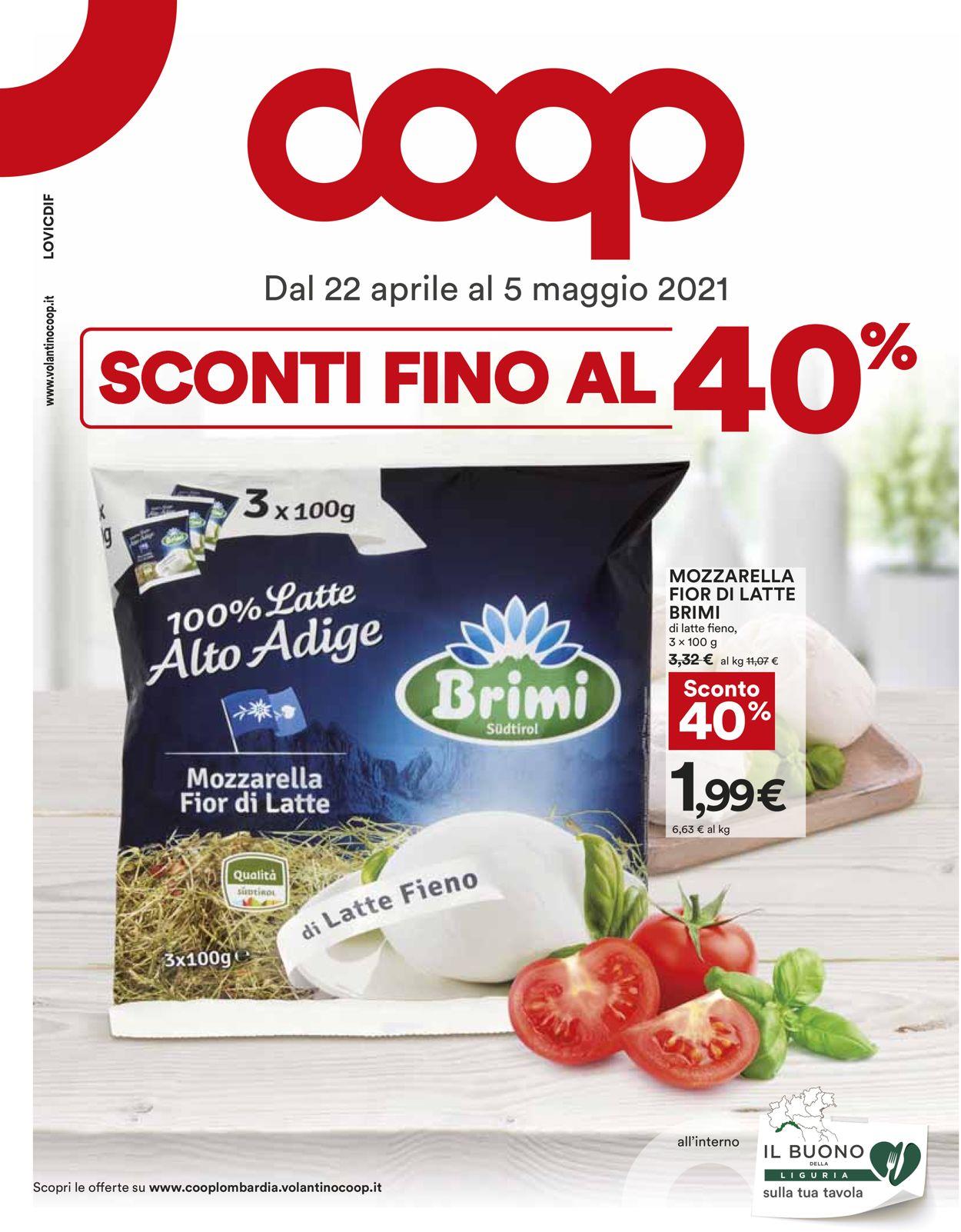 Volantino Coop - Offerte 22/04-05/05/2021