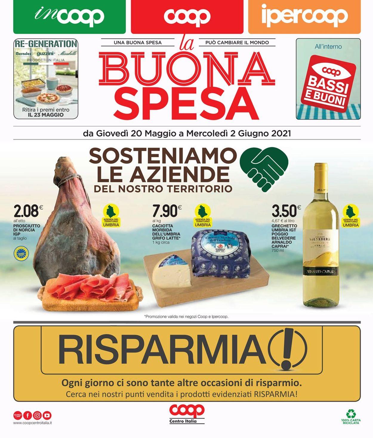 Volantino Coop - Offerte 20/05-02/06/2021
