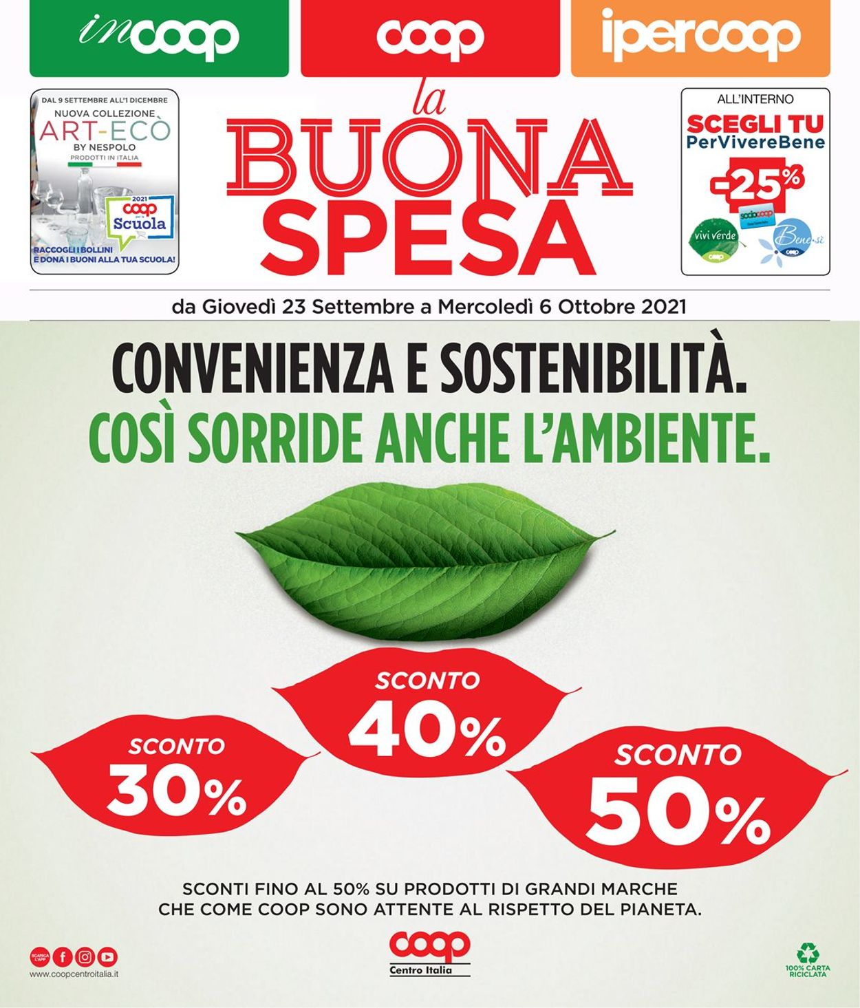 Volantino Coop - Offerte 09/09-22/09/2021