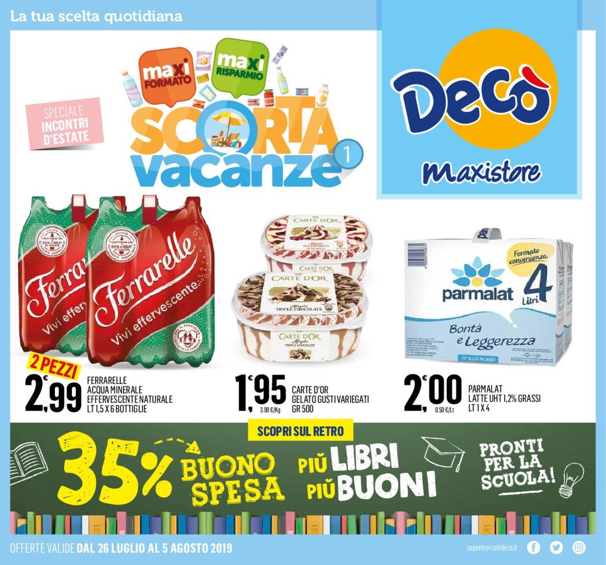 Volantino Deco - Offerte 26/07-05/08/2019