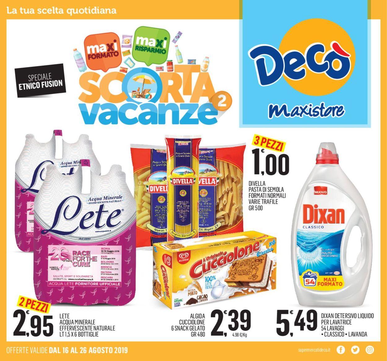 Volantino Deco - Offerte 16/08-26/08/2019