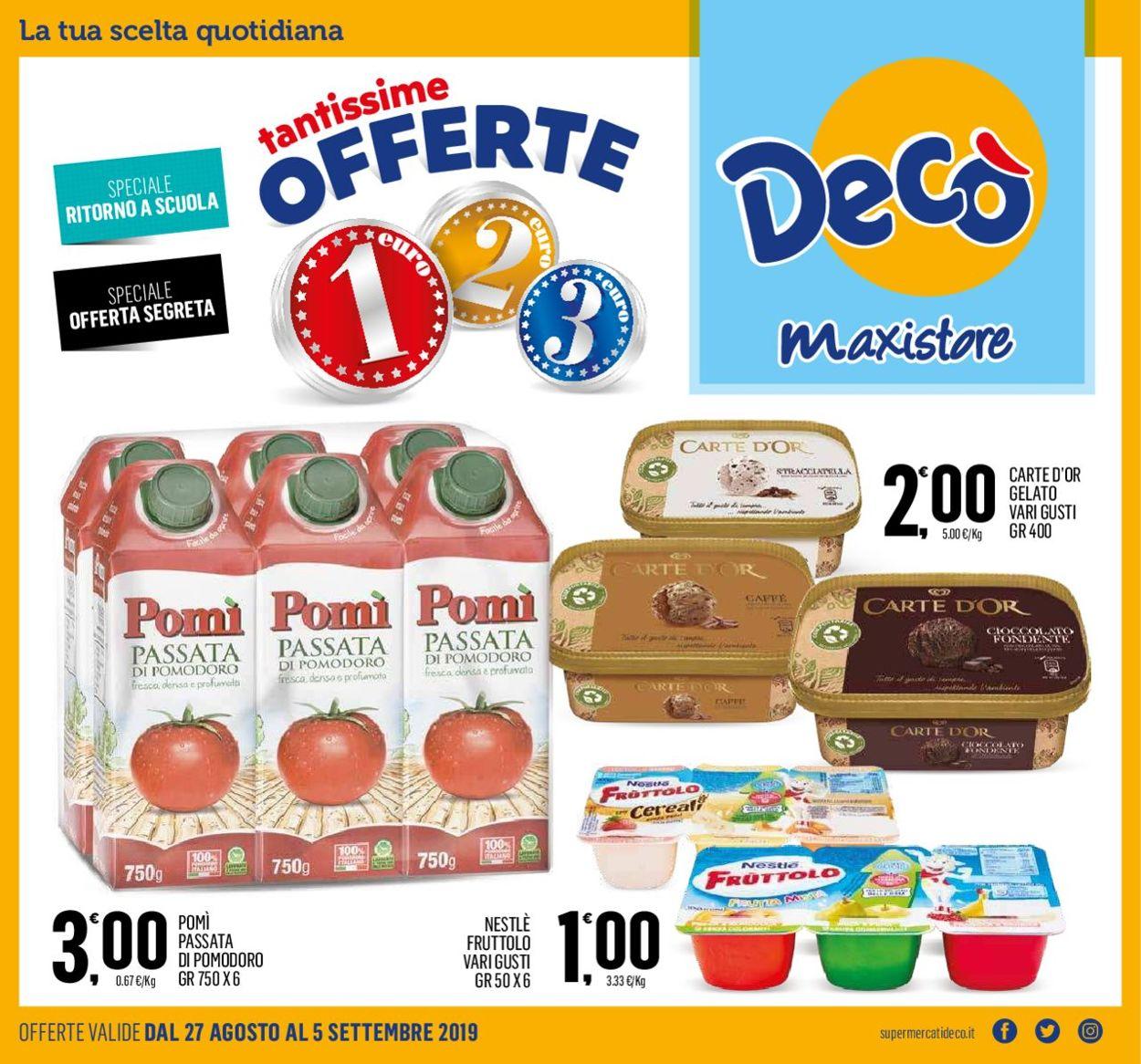Volantino Deco - Offerte 27/08-05/09/2019
