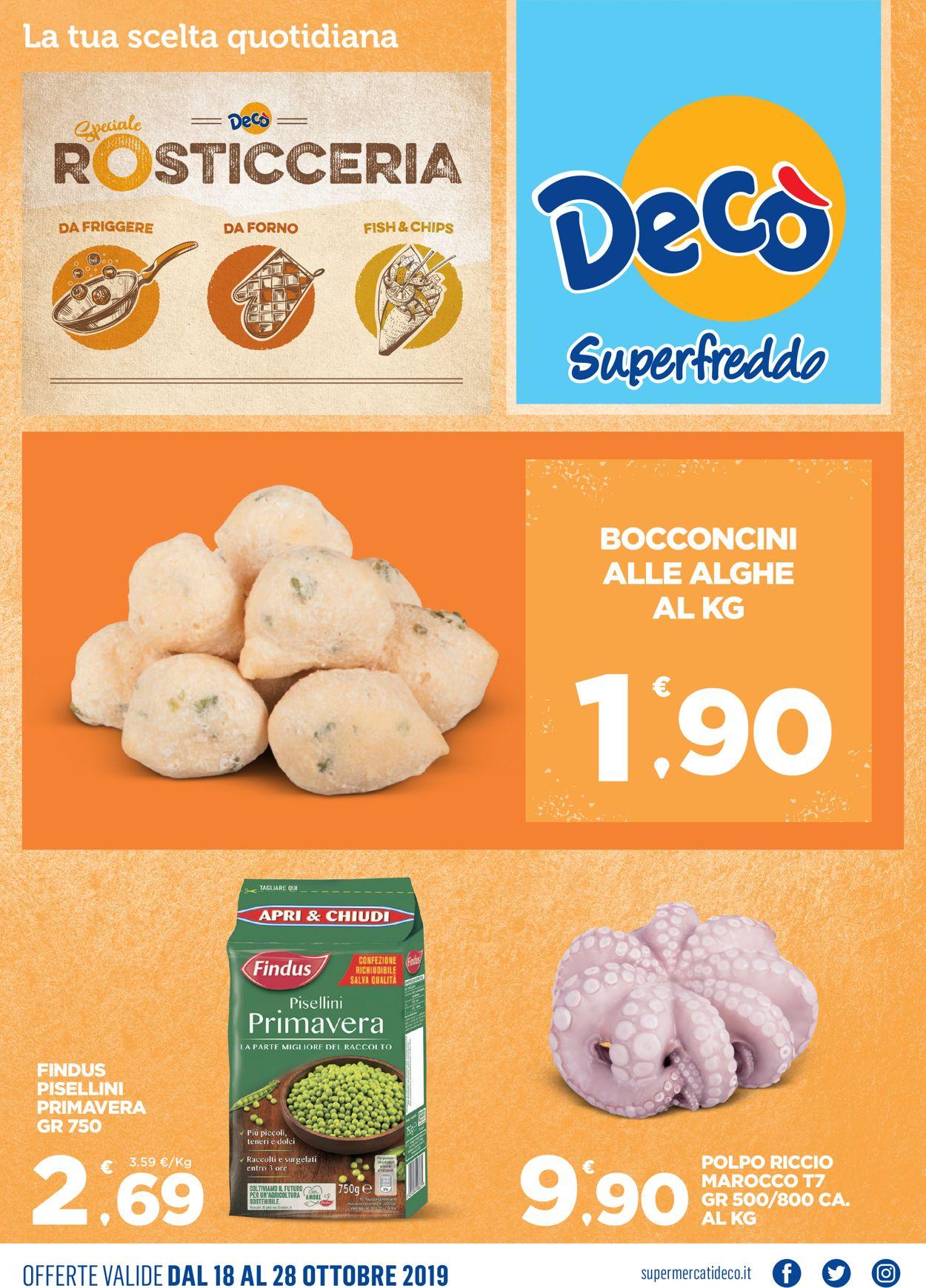 Volantino Deco - Offerte 18/10-28/10/2019
