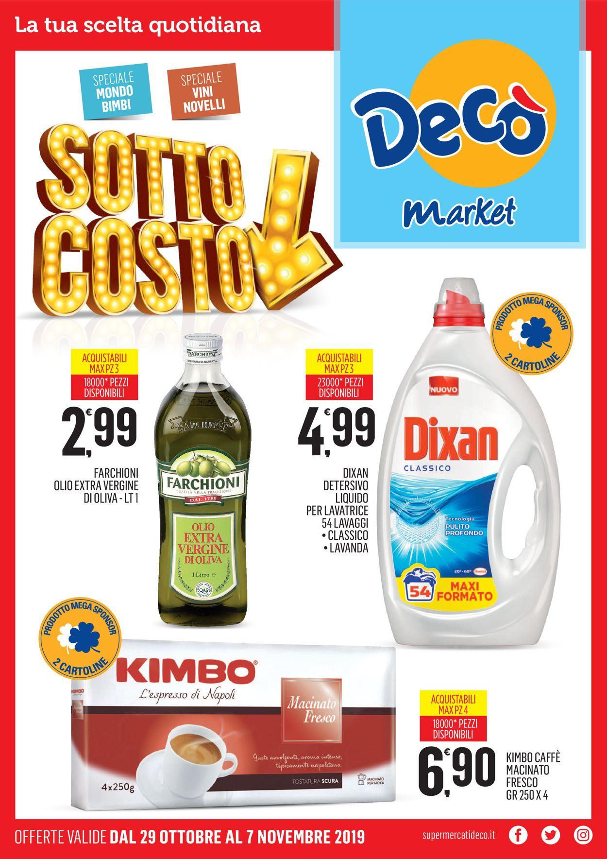 Volantino Deco - Offerte 29/10-07/11/2019