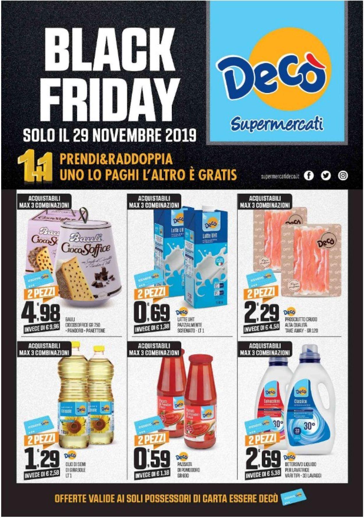 Volantino Deco - Black Friday 2019 - Offerte 29/11-29/11/2019